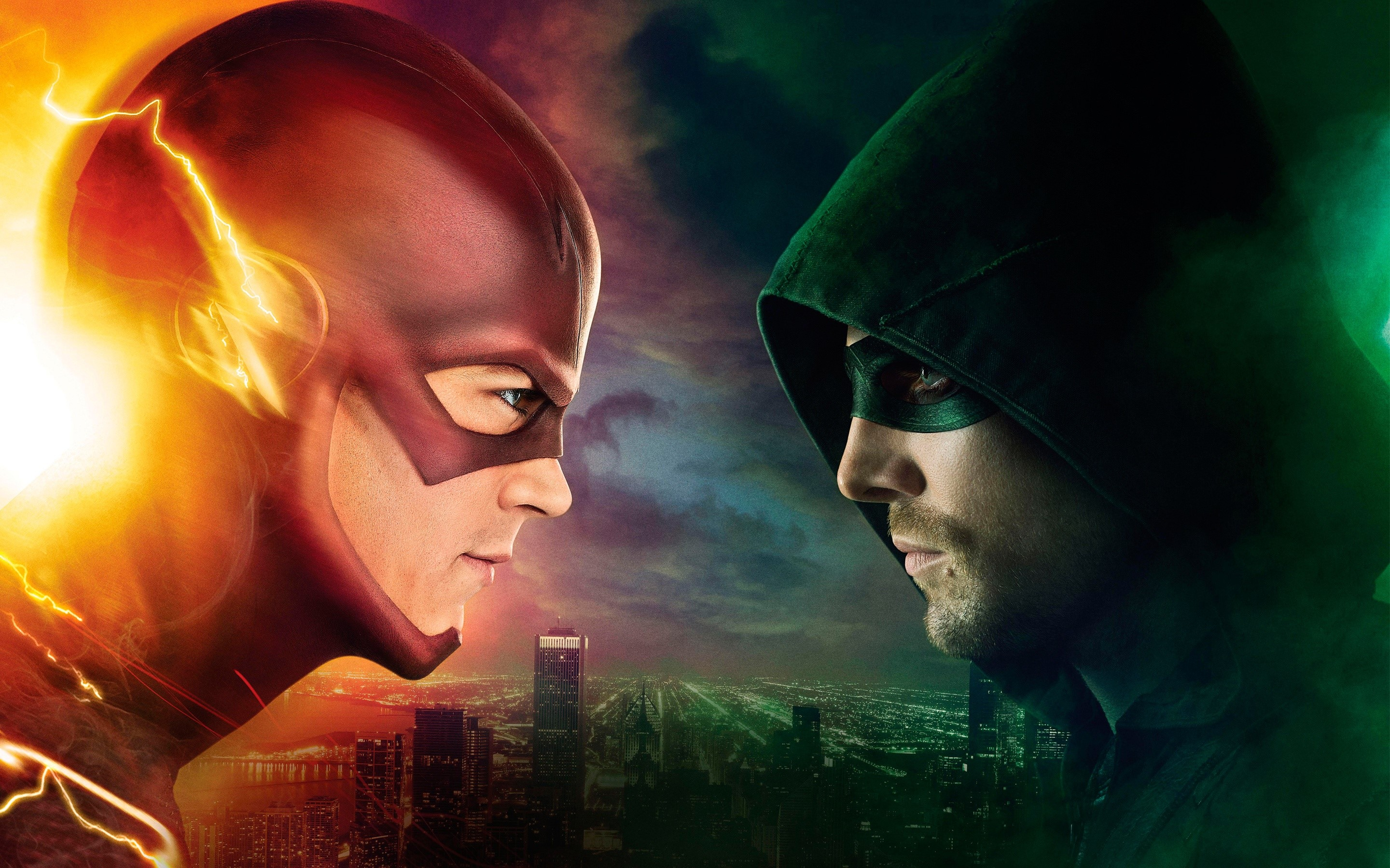 Wallpaper Flash vs Arrow