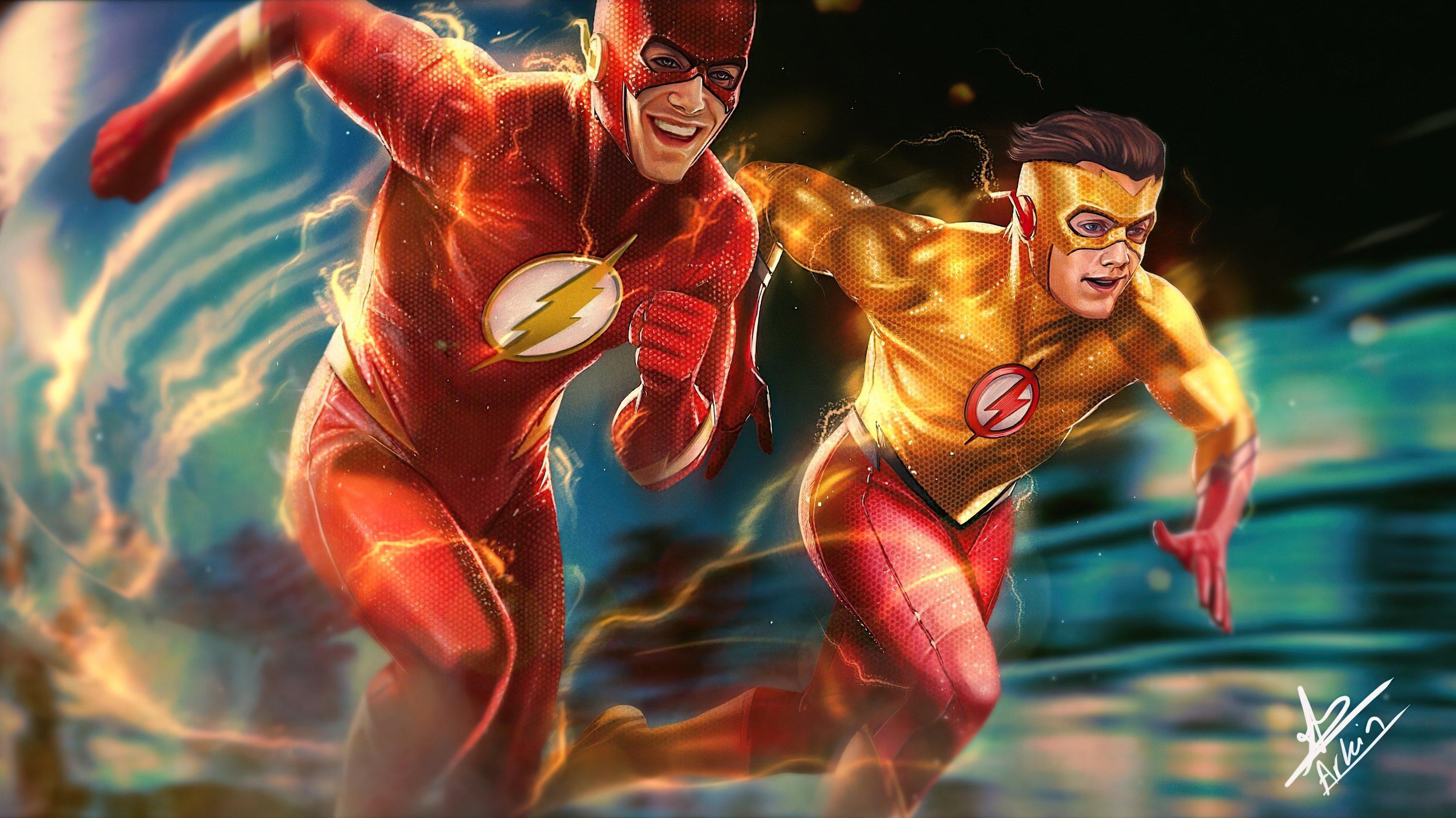 Fondos de pantalla Flash y Flash niño corriendo