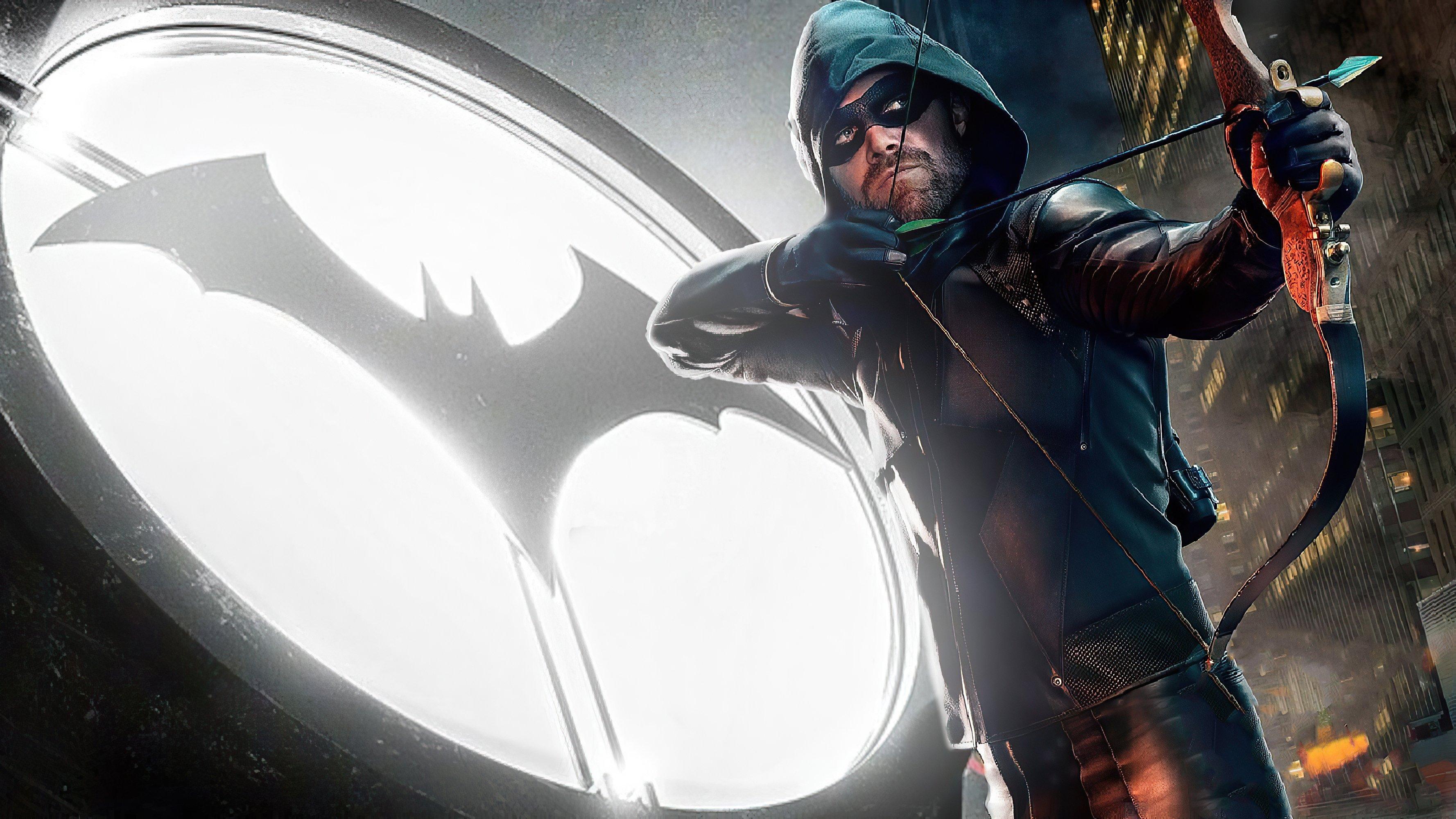 Fondos de pantalla Flecha verde con logo de Batman