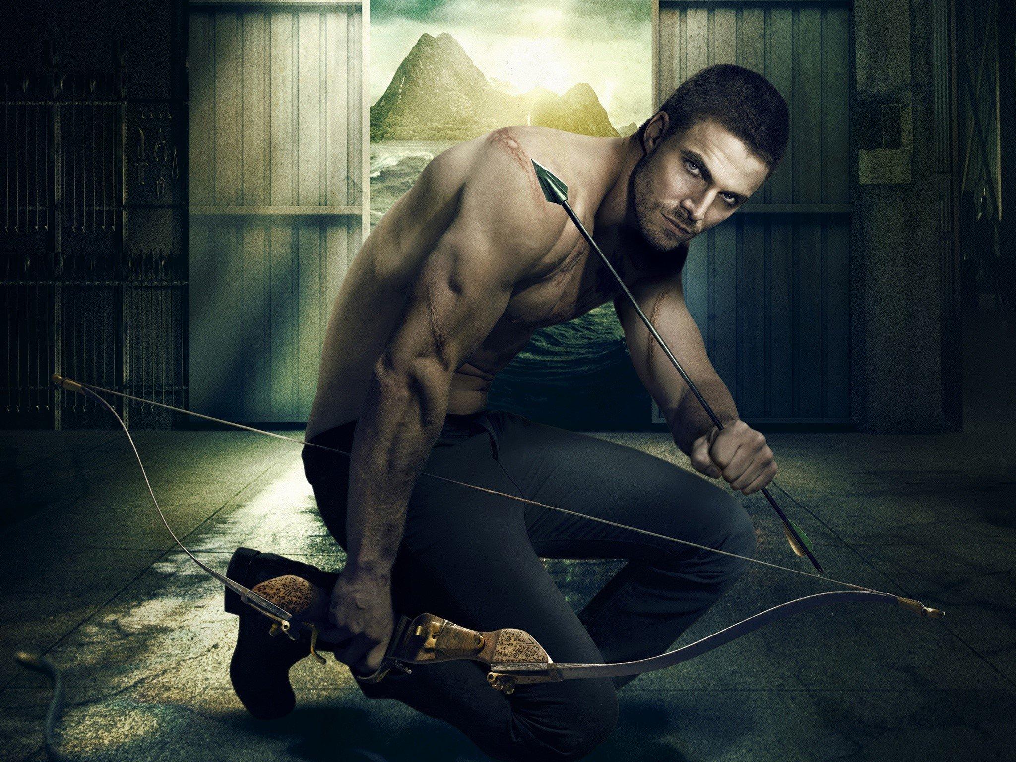 Wallpaper Green Arrow on Arrow