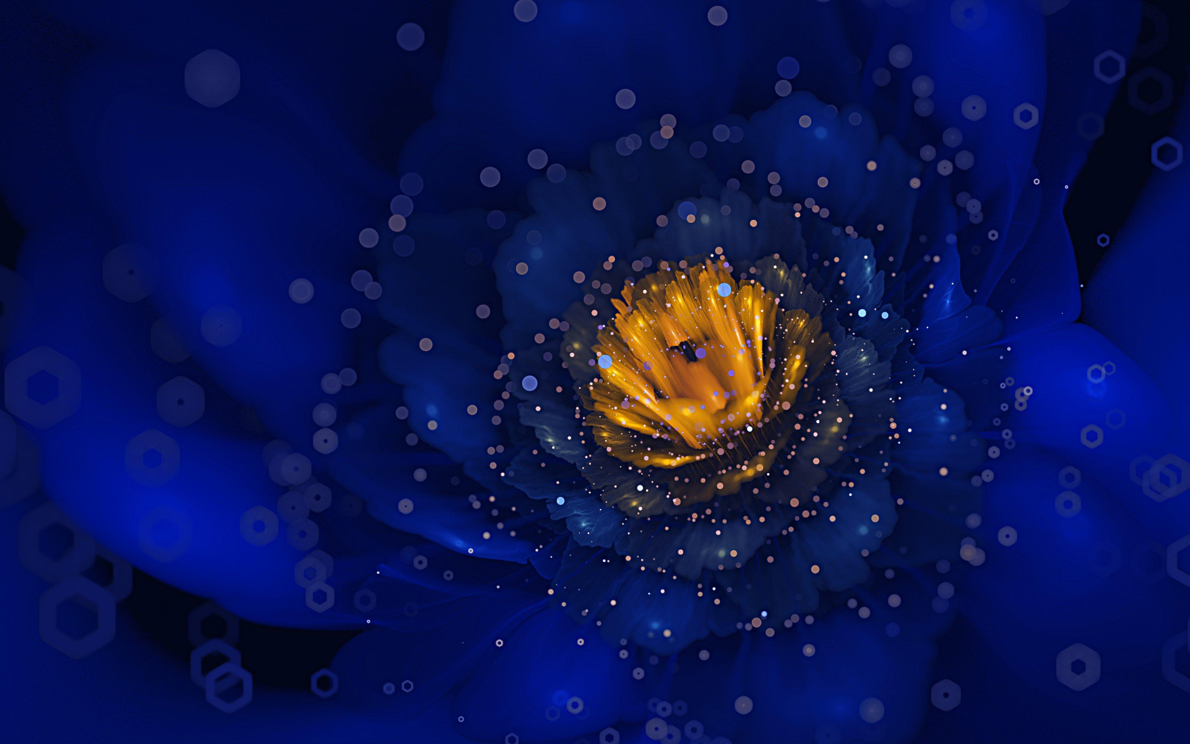 Fondos de pantalla Flor azul digital de cerca