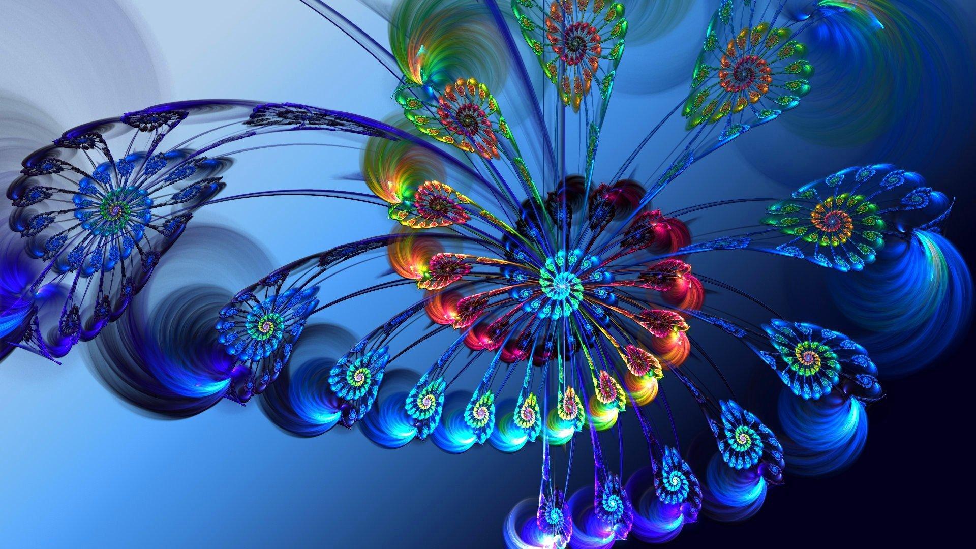 Fondos de pantalla Flores en espiral Arte