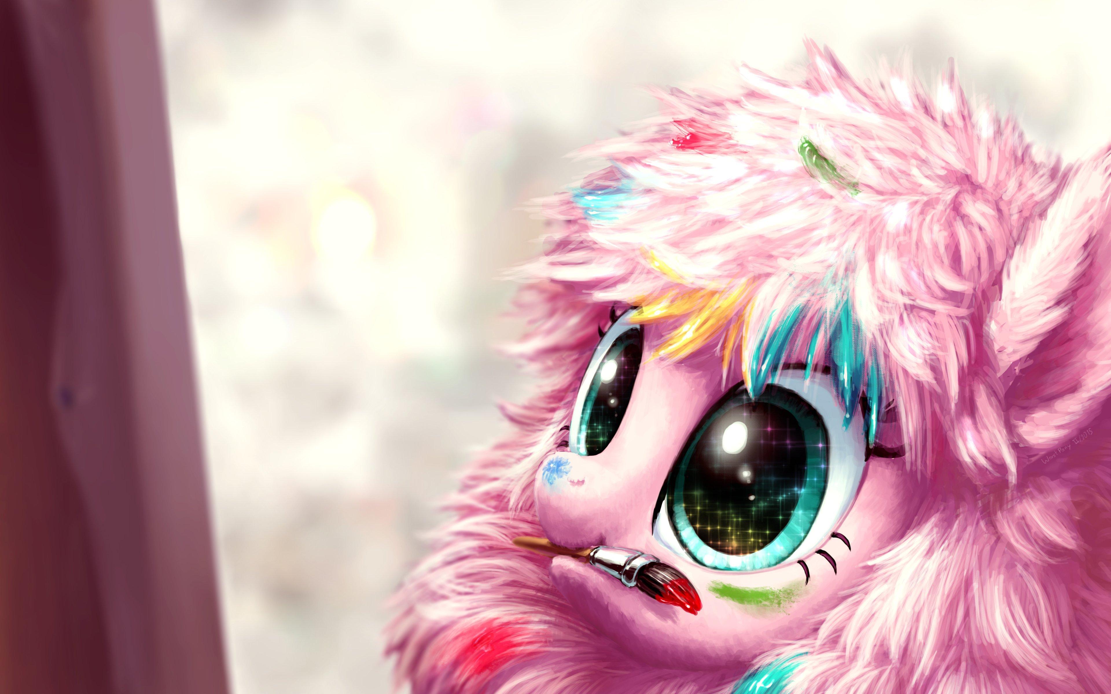 Fondos de pantalla Fluffle puff de Mi pequeño pony pintando