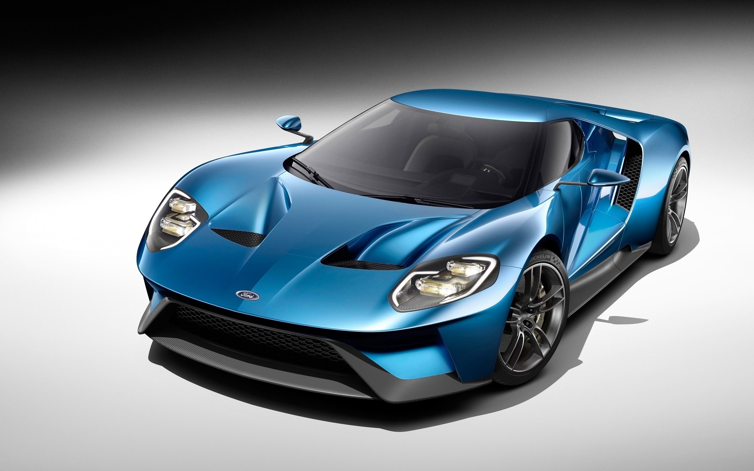 Wallpaper Ford GT blue