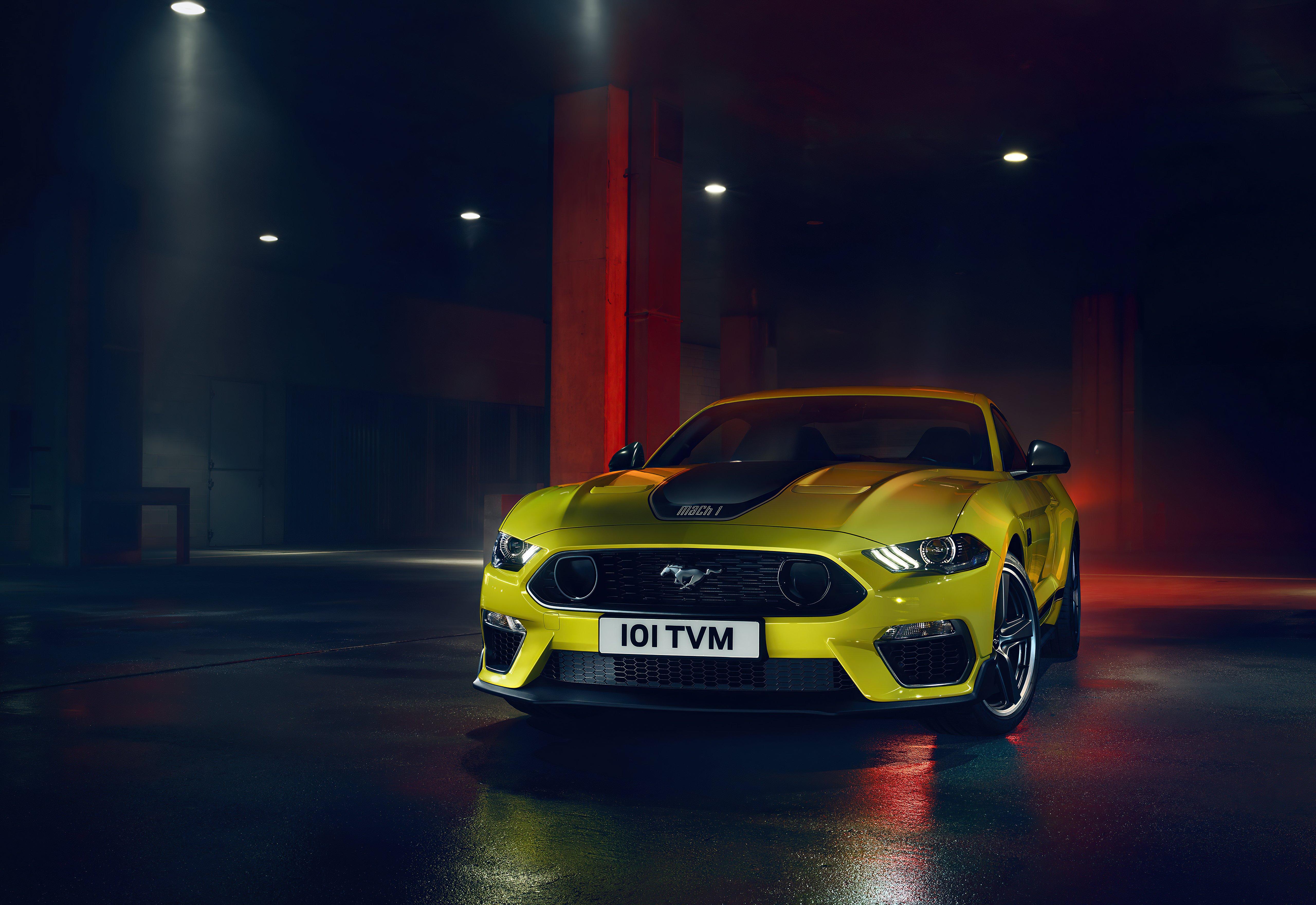 Fondos de pantalla Ford Mustang Amarillo