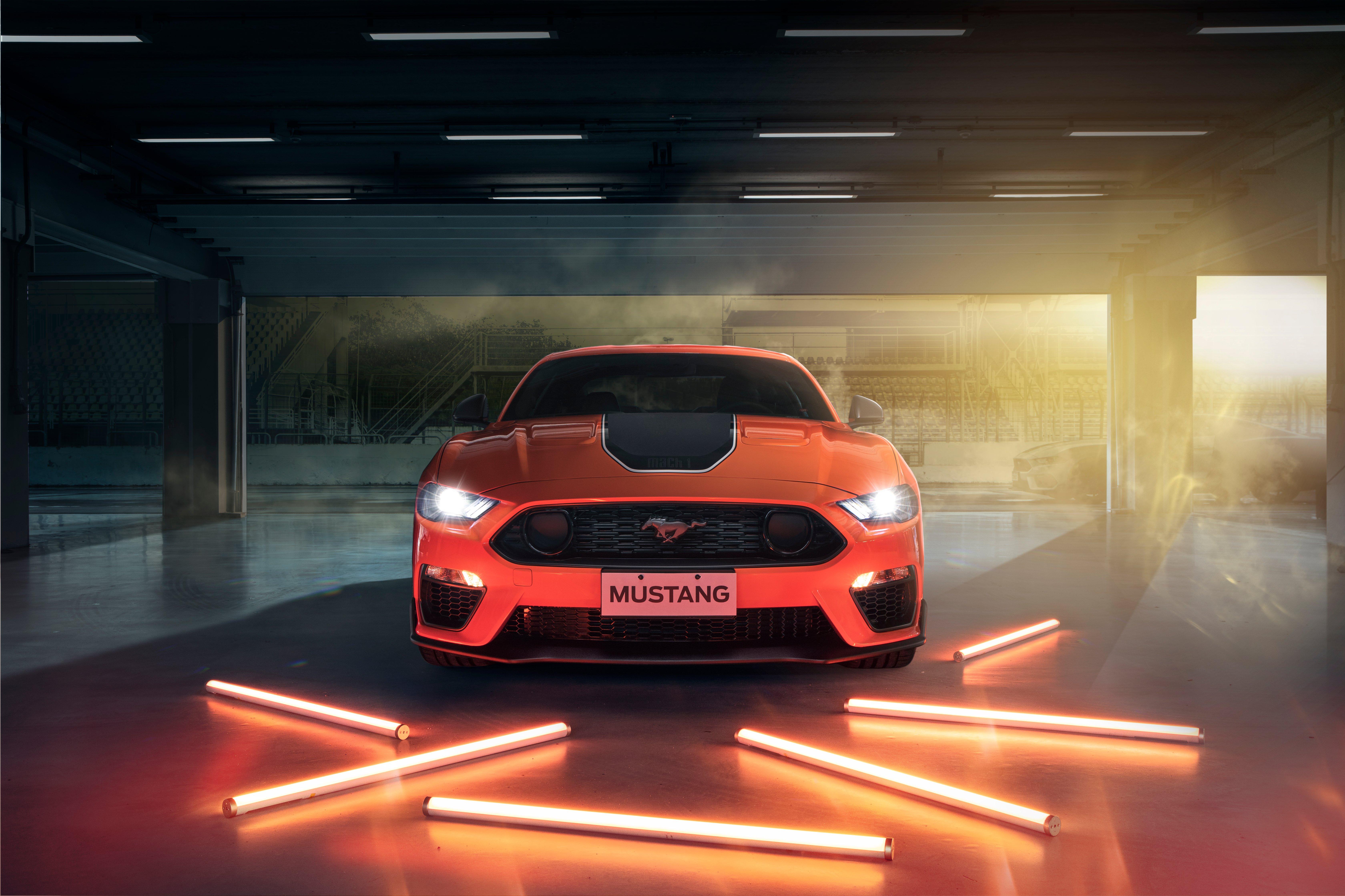 Wallpaper Ford Mustang Mach 2021
