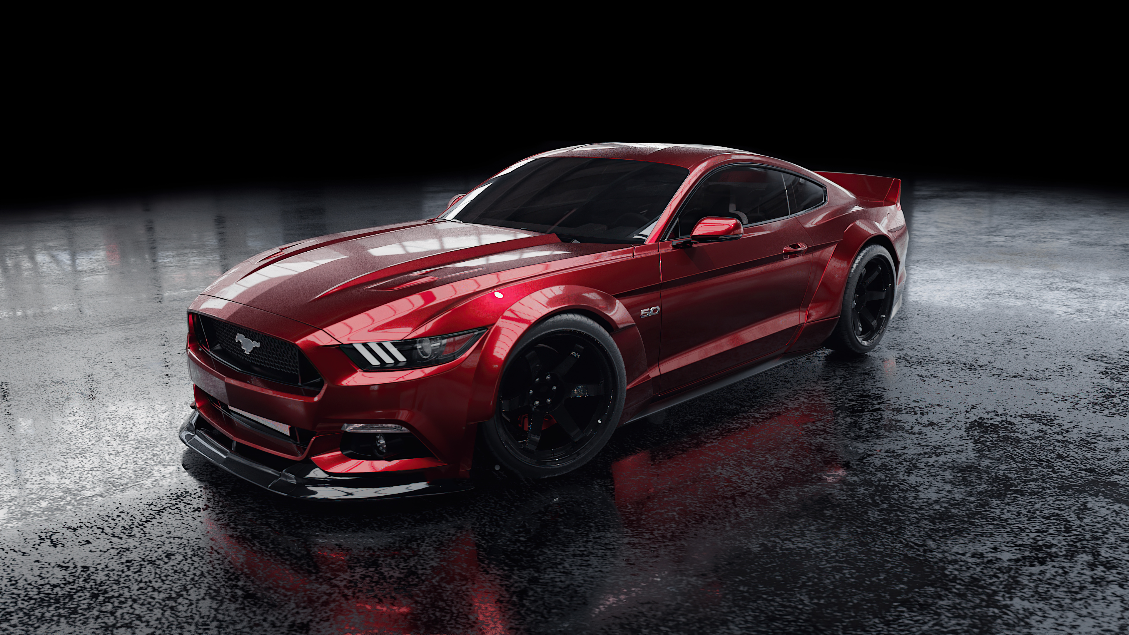Fondos de pantalla Ford Mustang Rojo