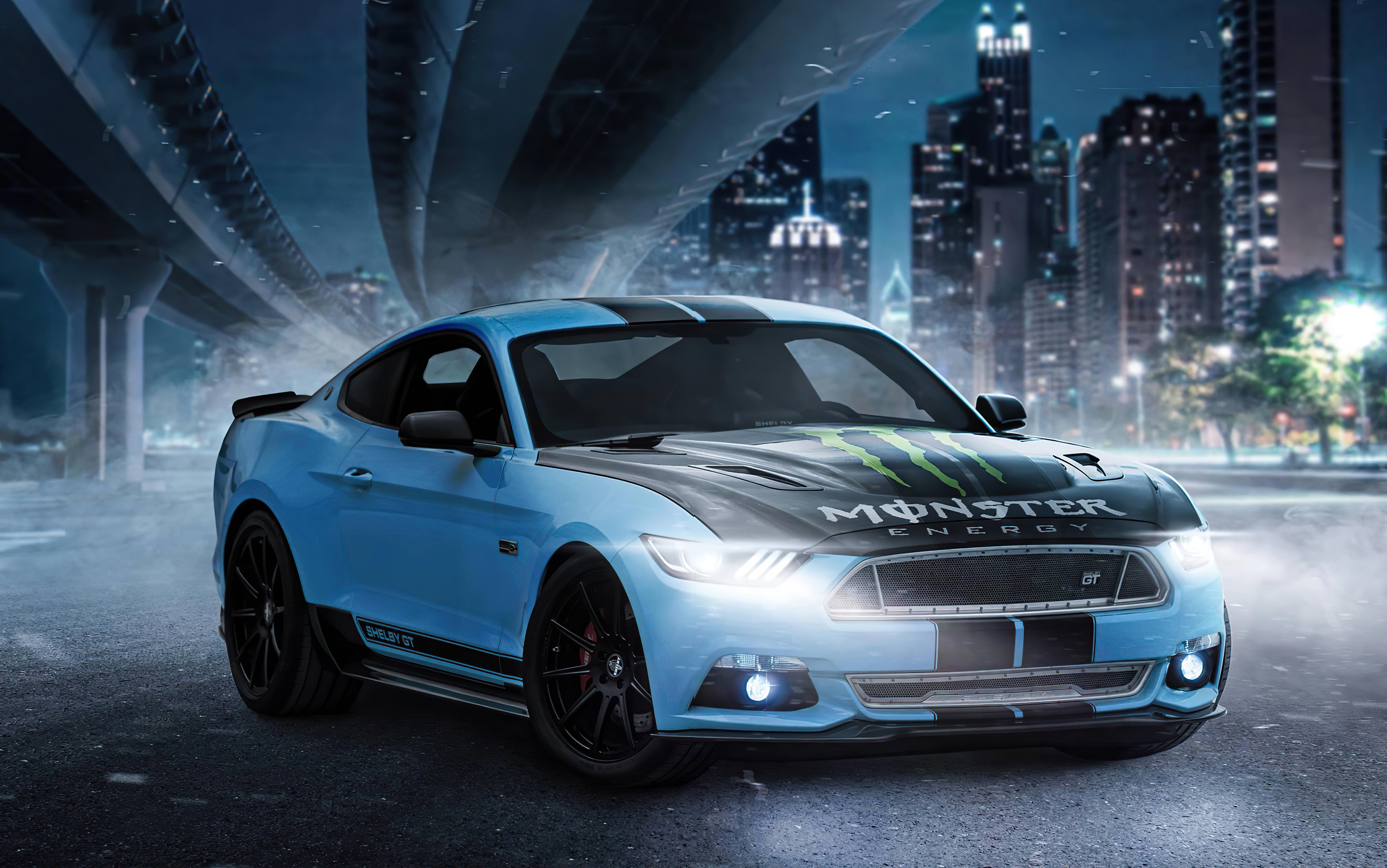 Fondos de pantalla Ford Mustang Skyblue en ciudad
