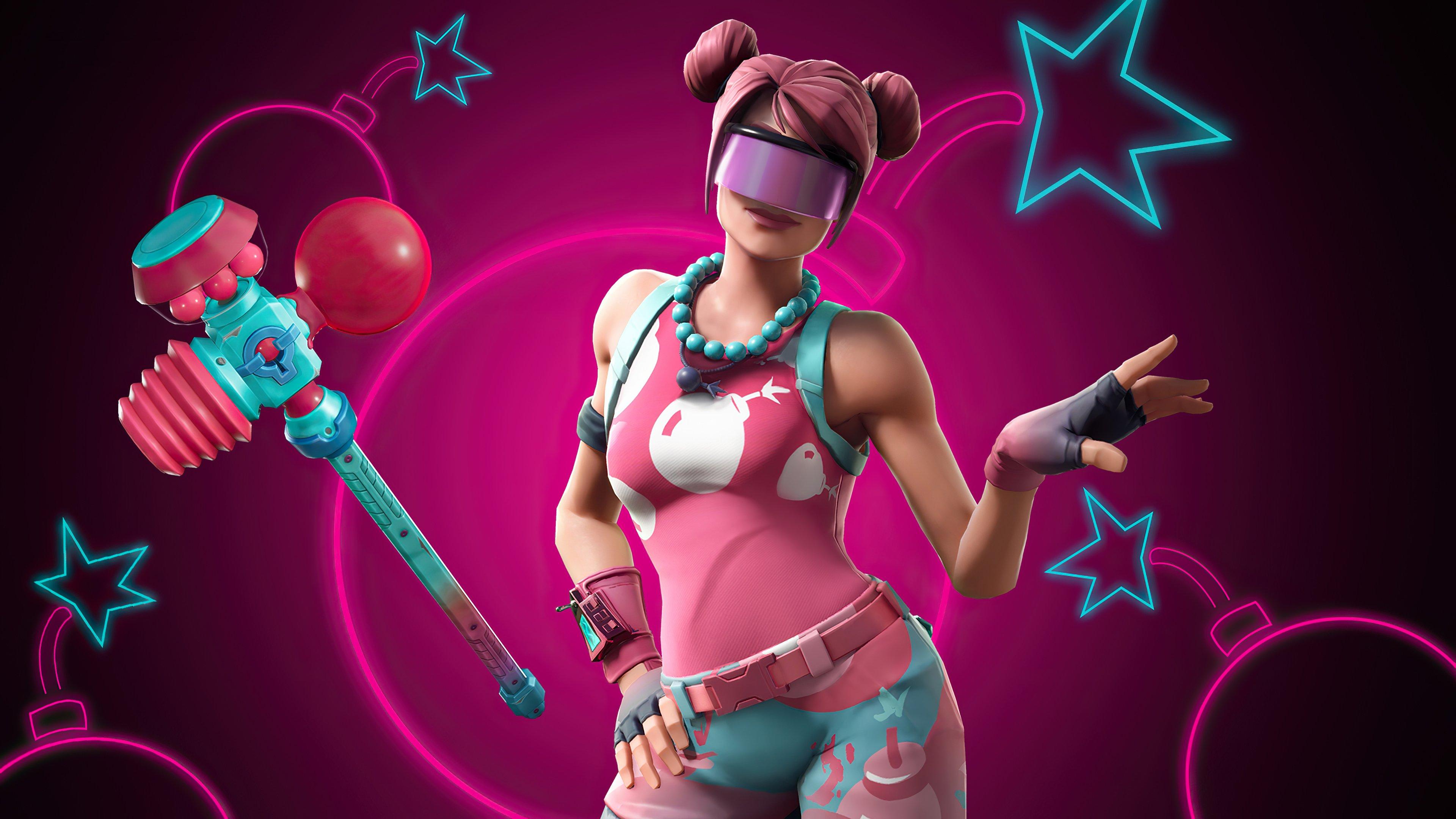 Fondos de pantalla Fortnite Candy Commando Bubble bomber outfit