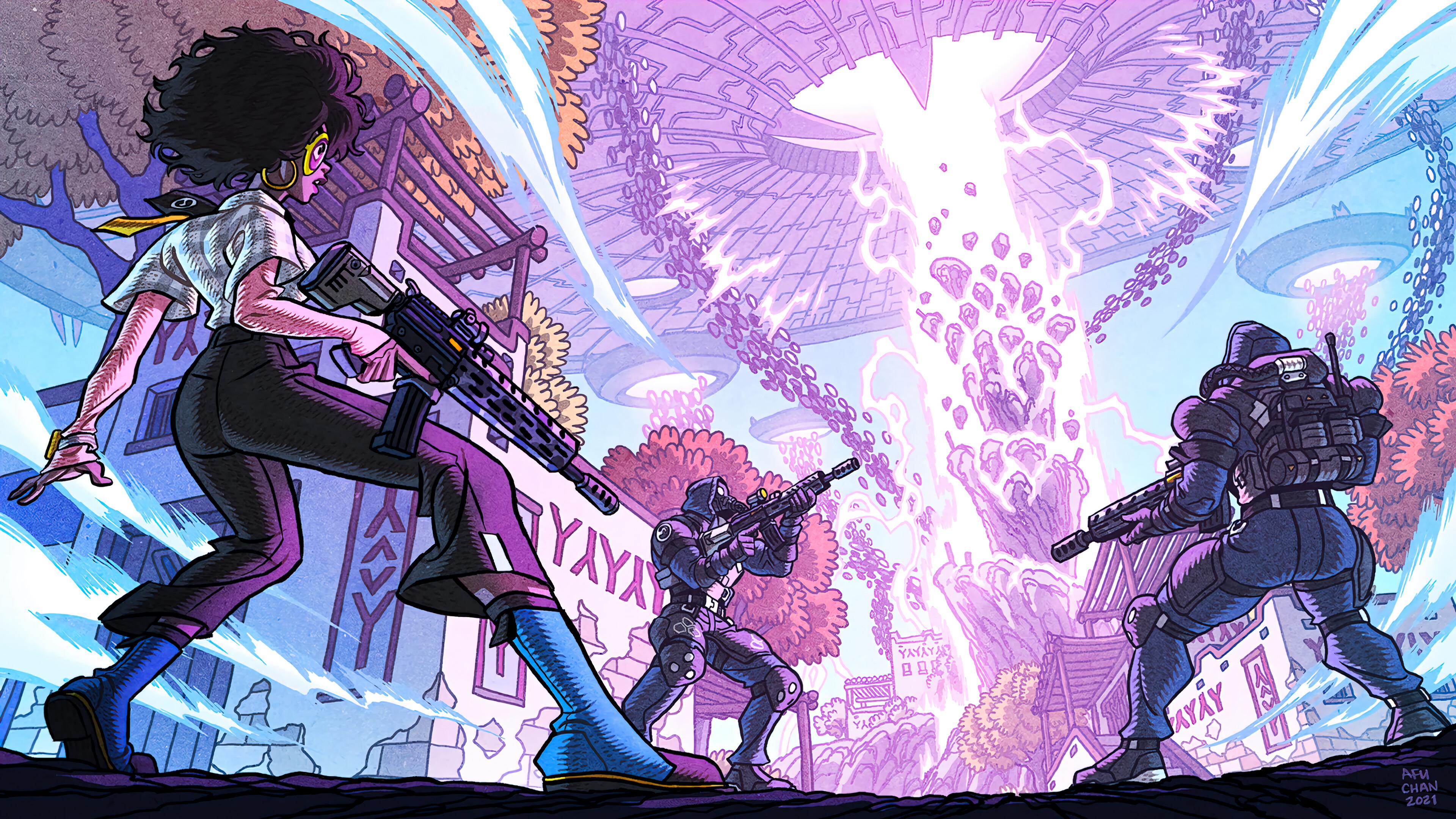 Wallpaper Fortnite Doctor Slone Spire Strike