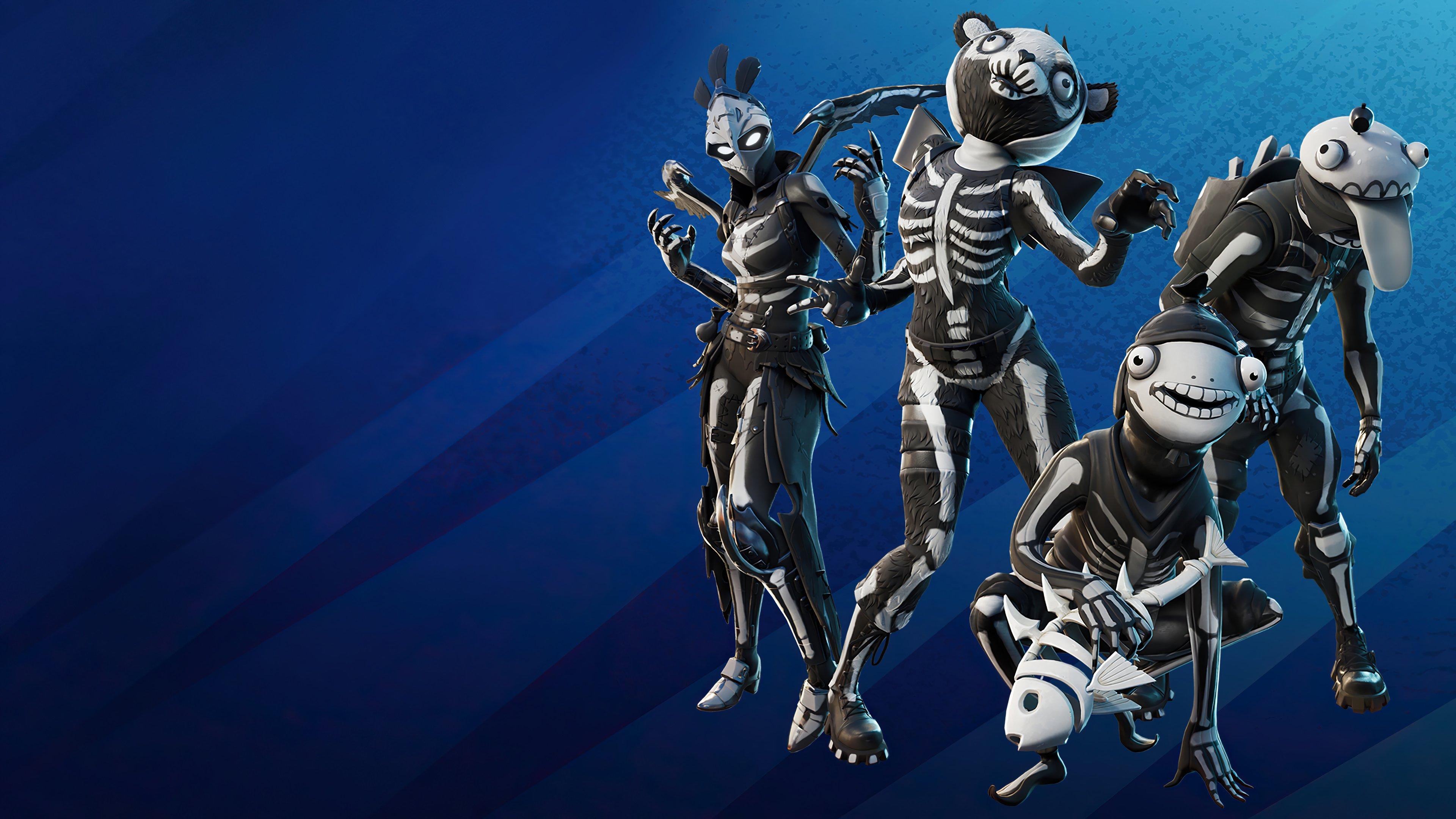 Fondos de pantalla Fortnite Skull squad pack skins Halloween outfits