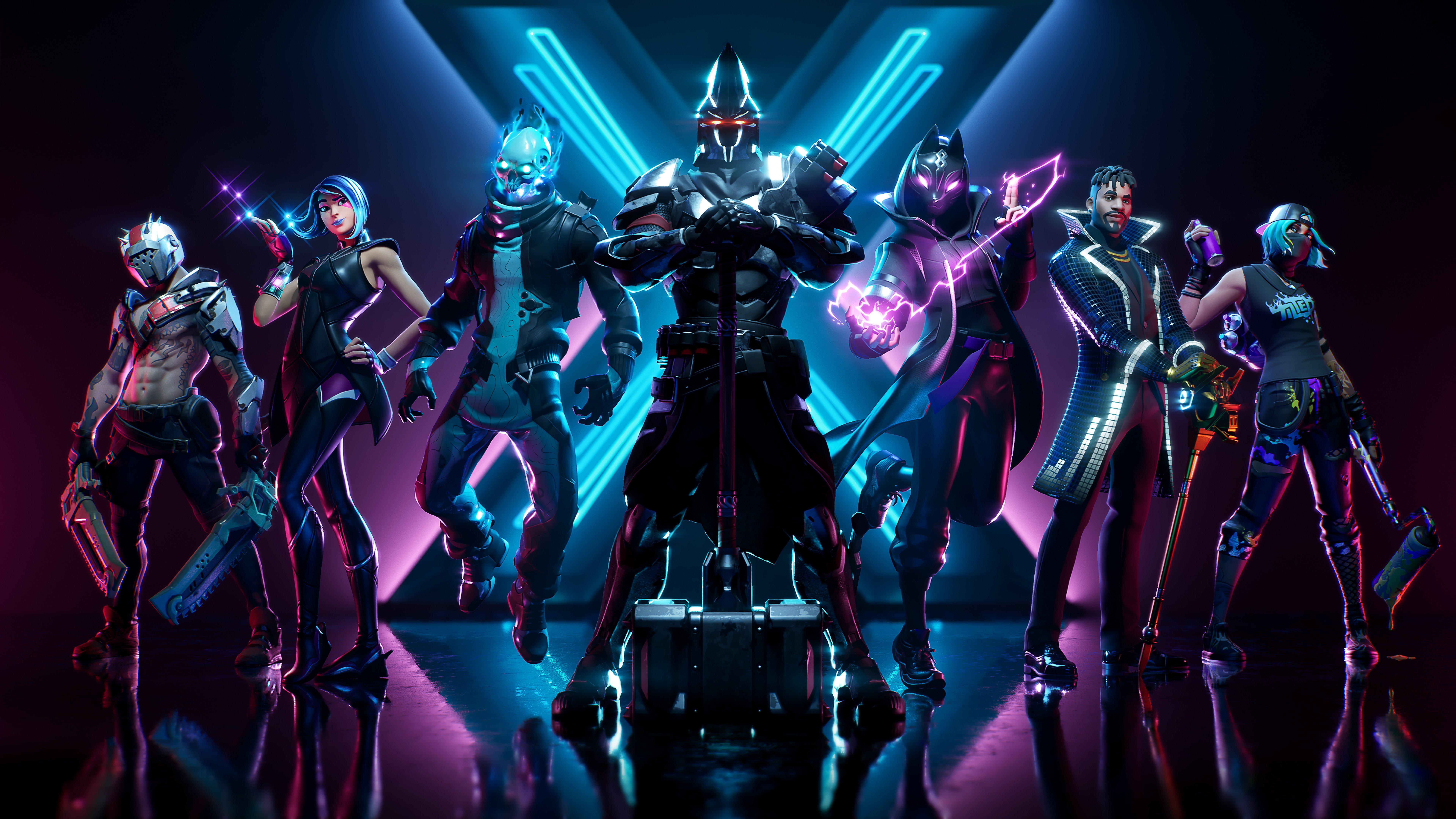 Fondos de pantalla Fortnite X Todos los trajes de Battle Pass Skins Season 10