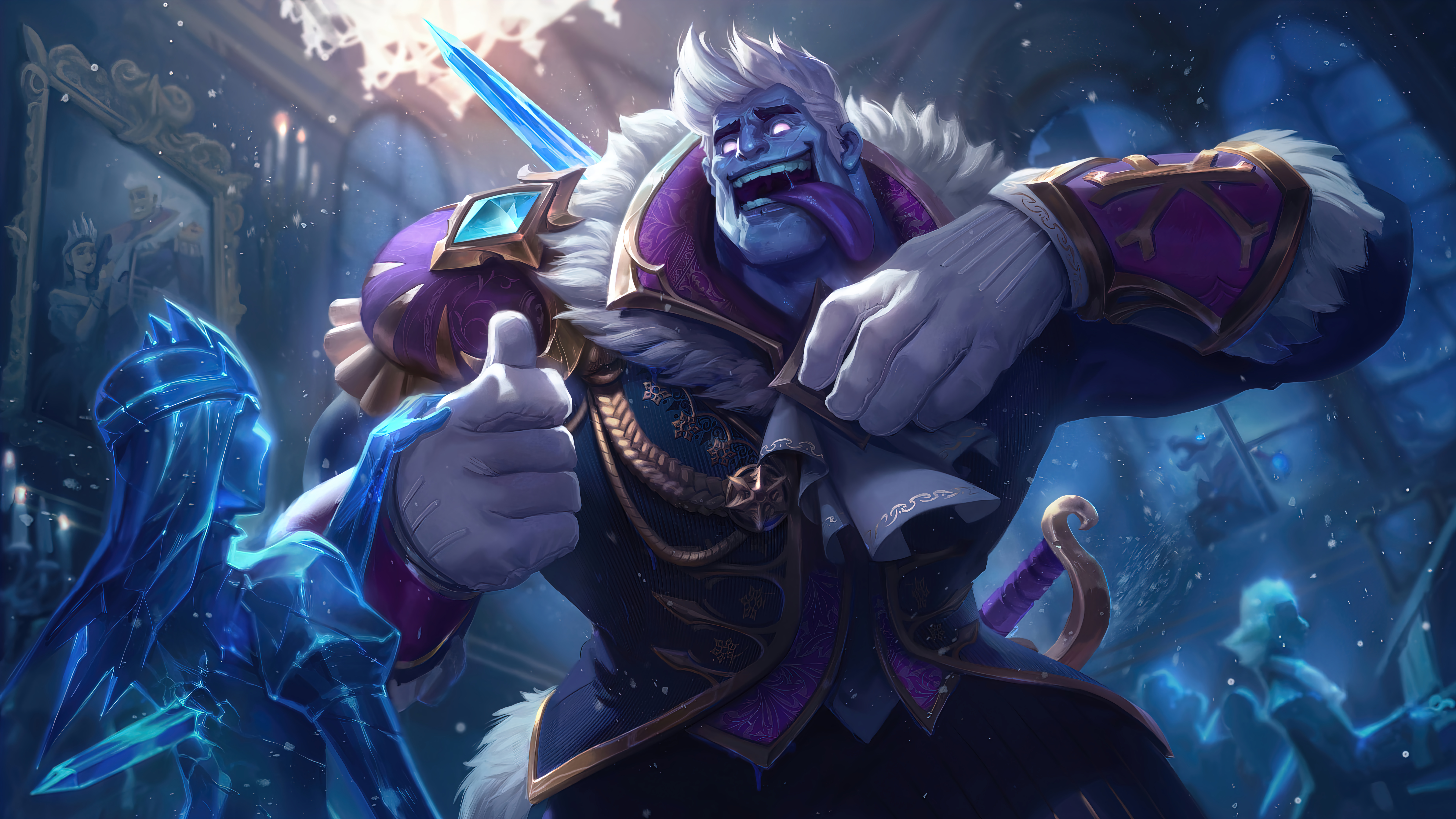Wallpaper Frozen Prince Dr Mundo League of Legends