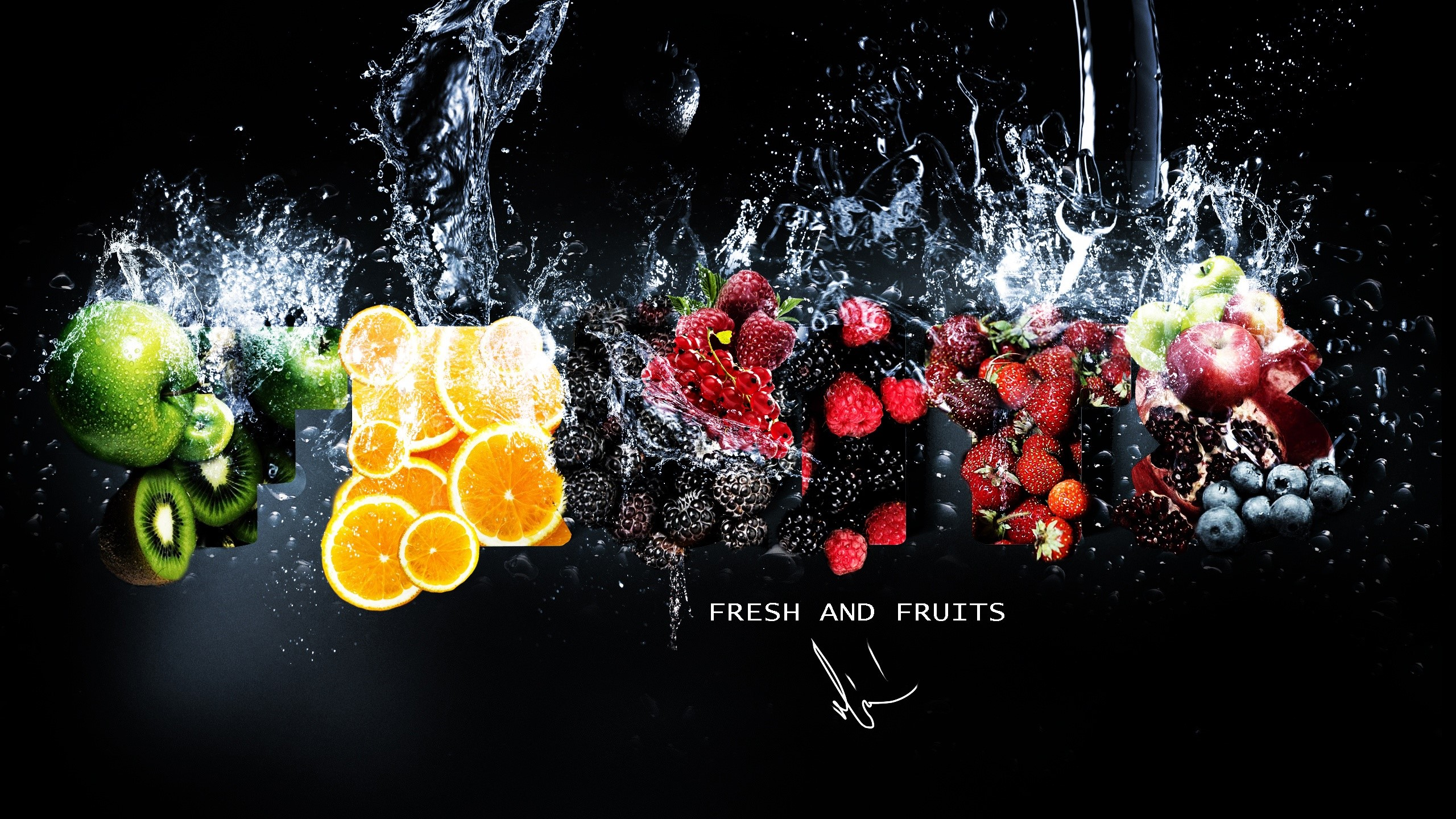 Wallpaper Fresh fruits