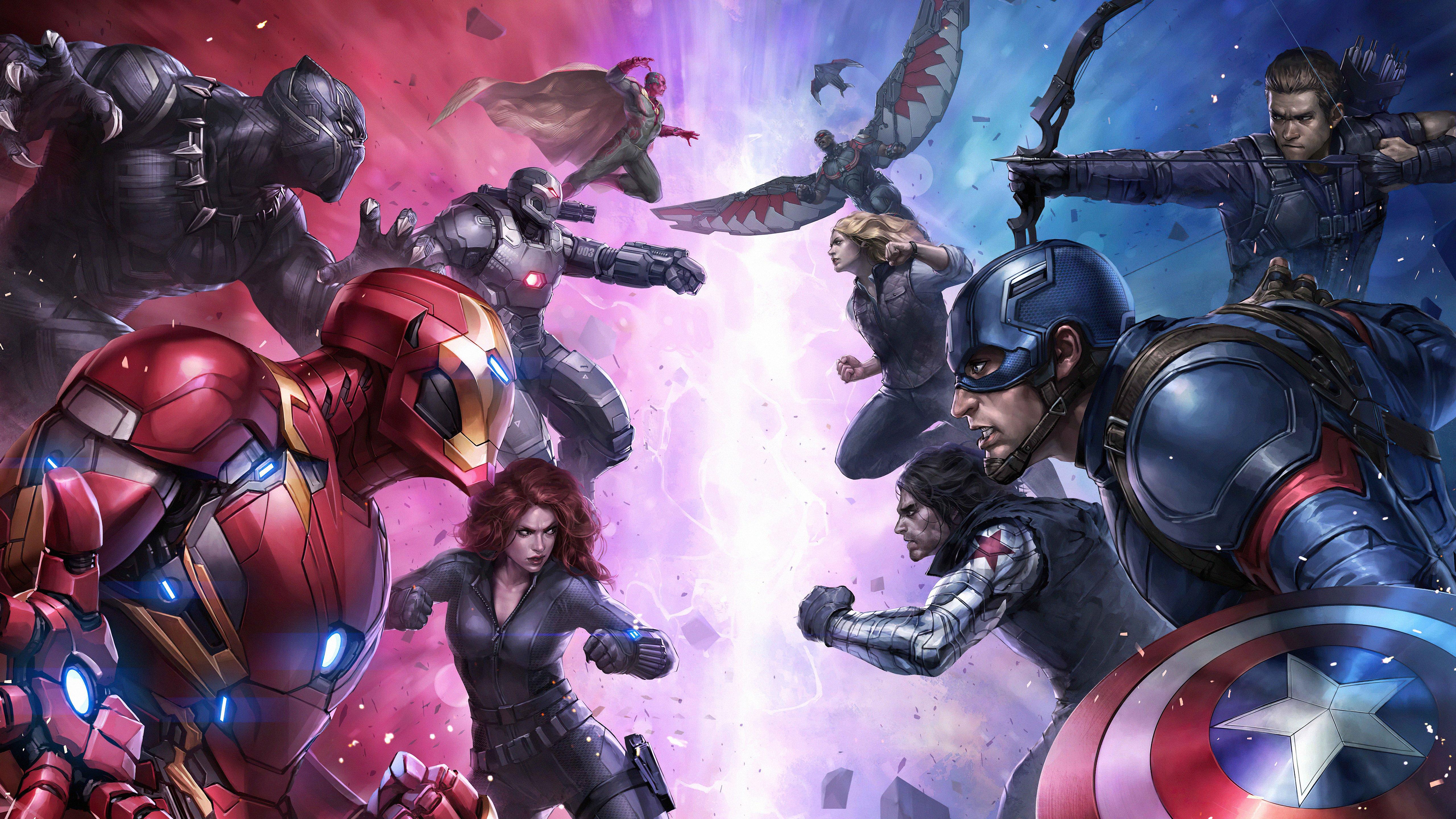 Fondos de pantalla Futura Pelea Marvel