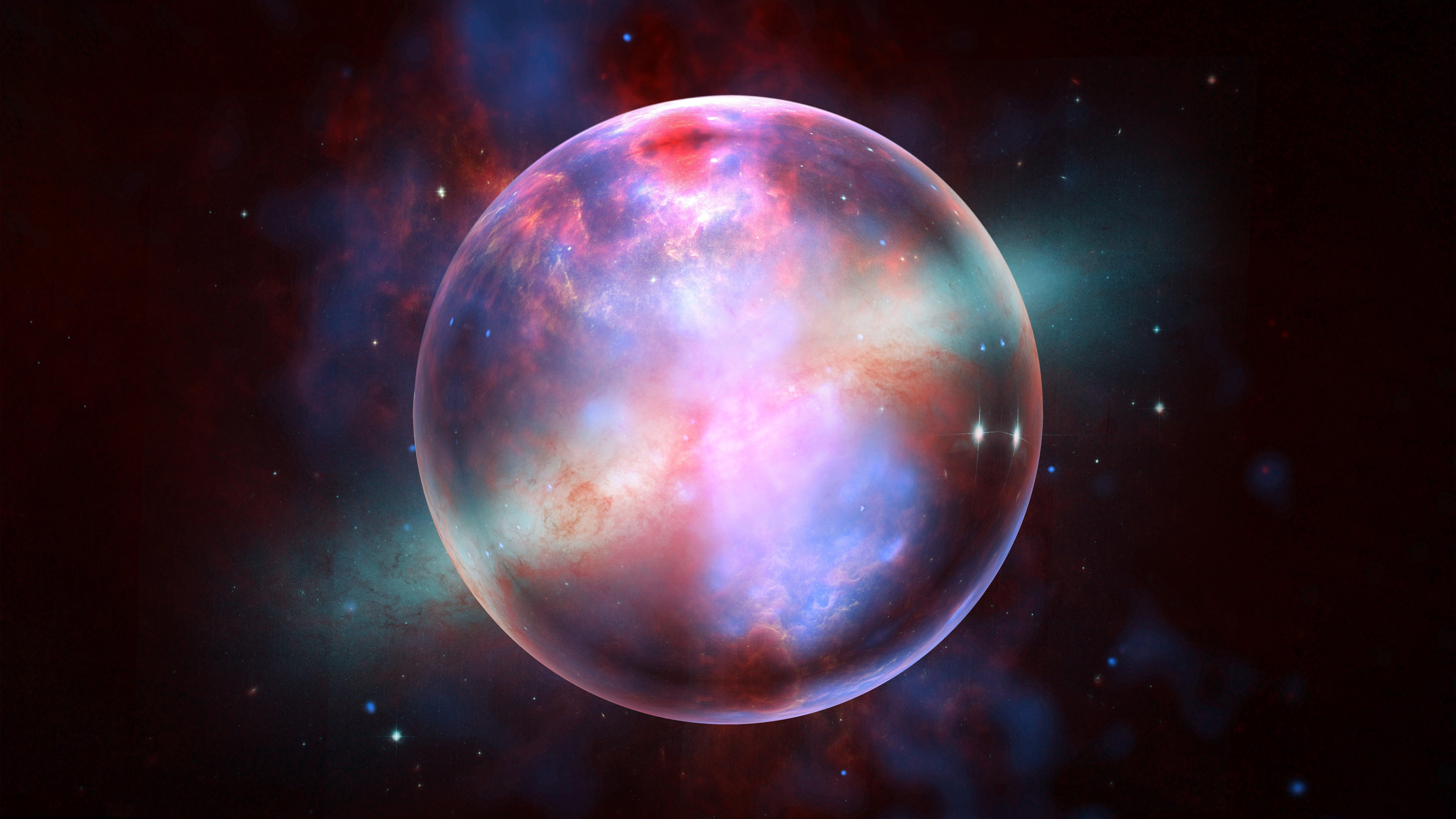 Fondos de pantalla Galaxia encerrada en una esfera