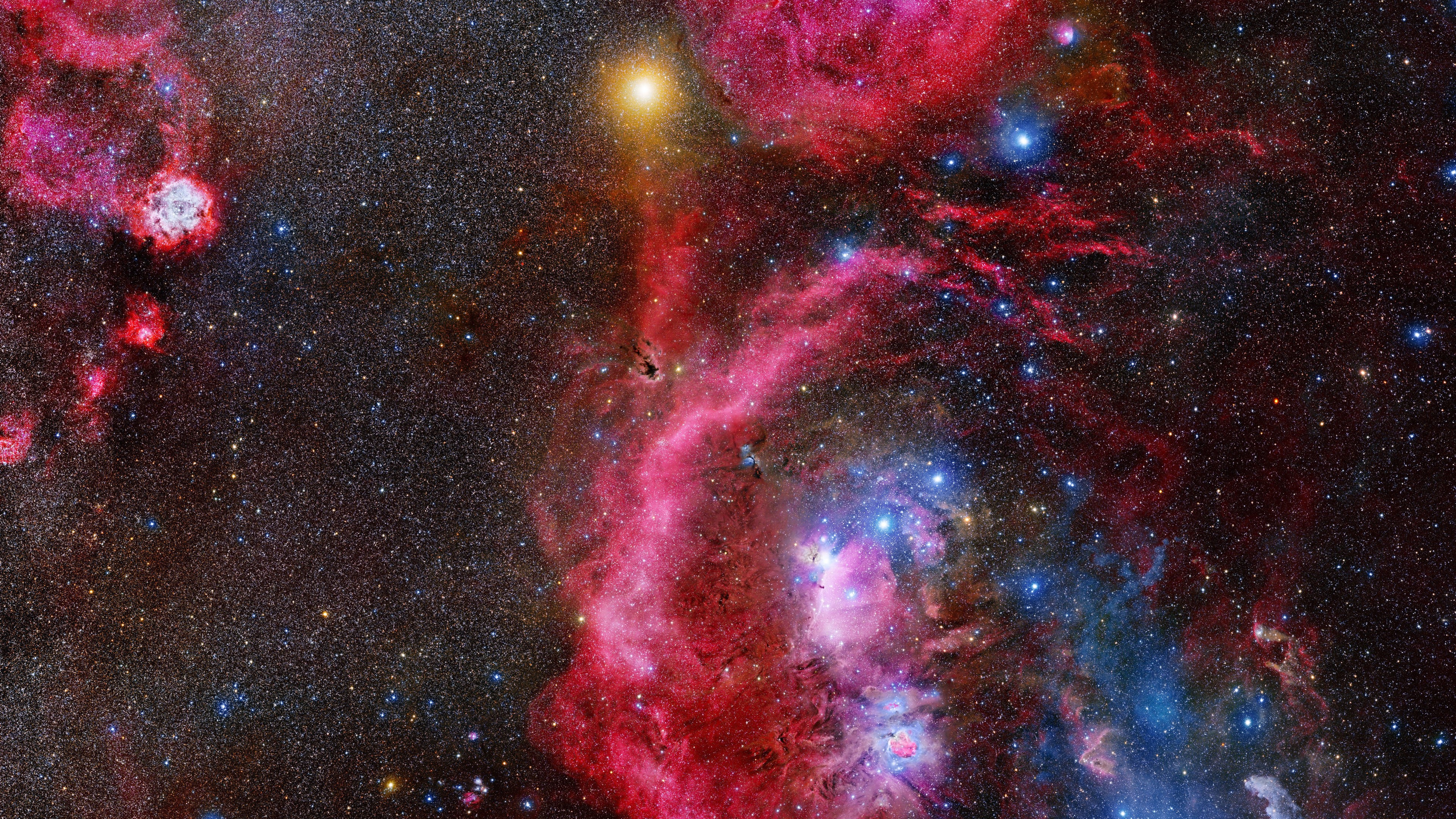 Wallpaper Galaxy and Orion constalation