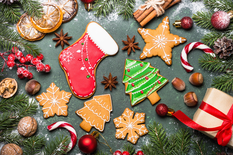 Wallpaper Christmas cookies
