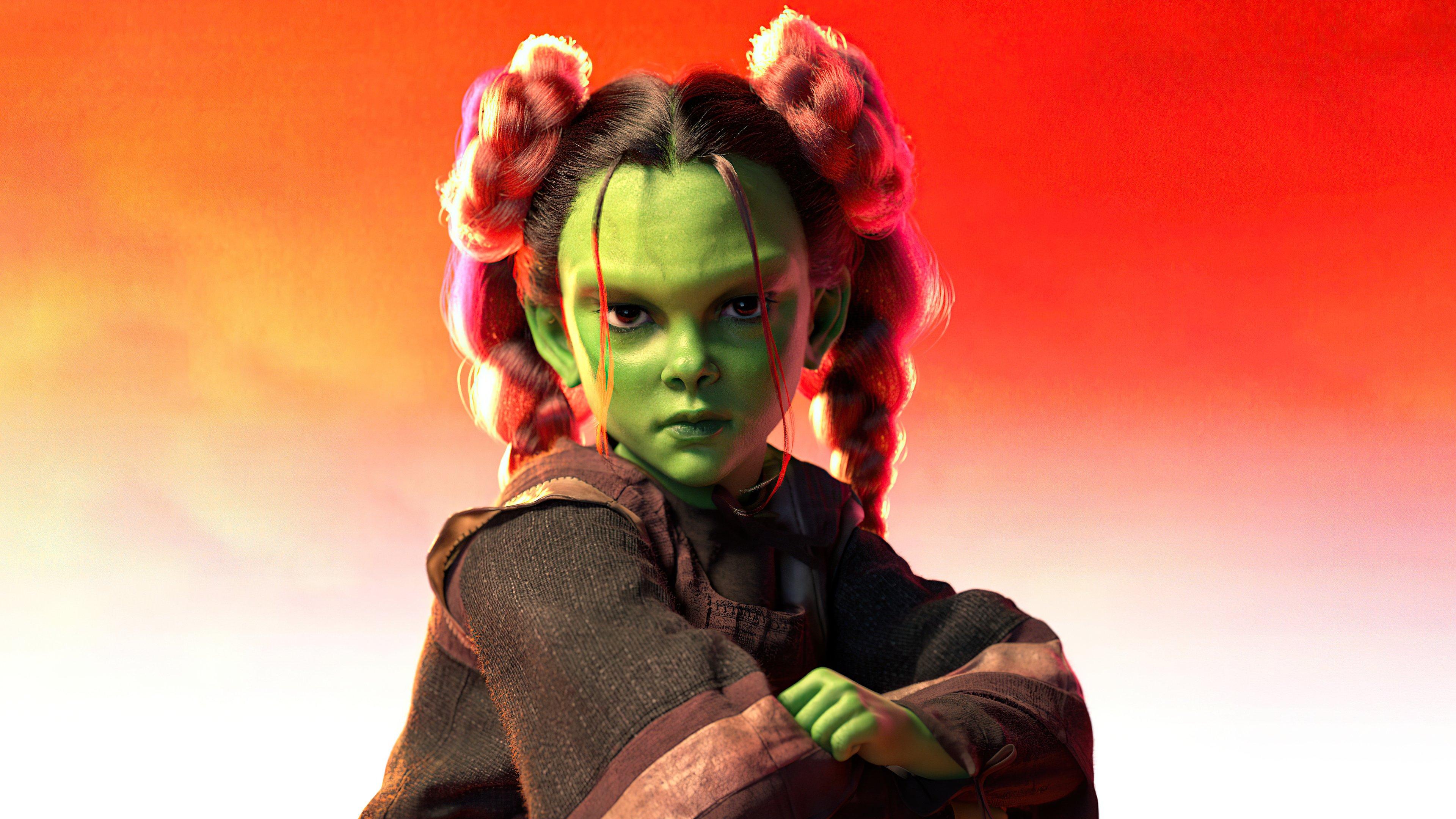 Fondos de pantalla Gamora como niña