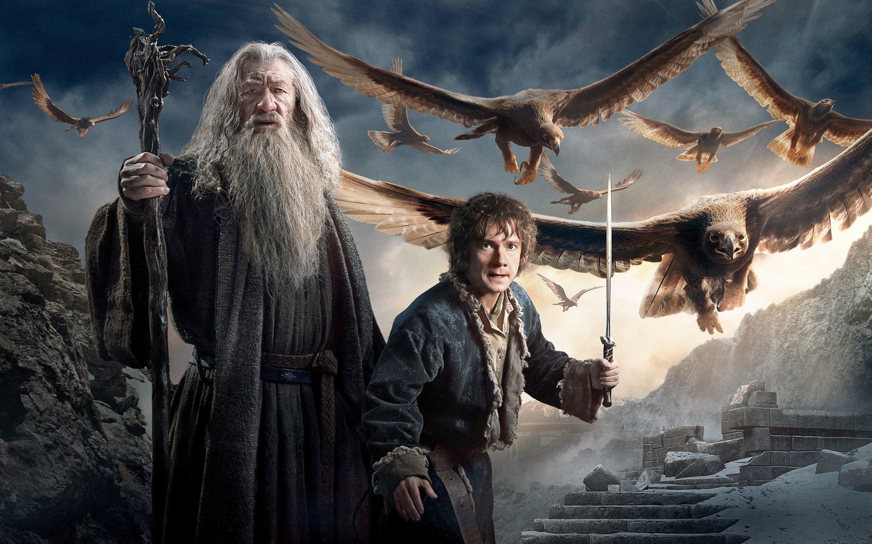 Wallpaper Gandalf and Bilbo Baggings in The Hobbit