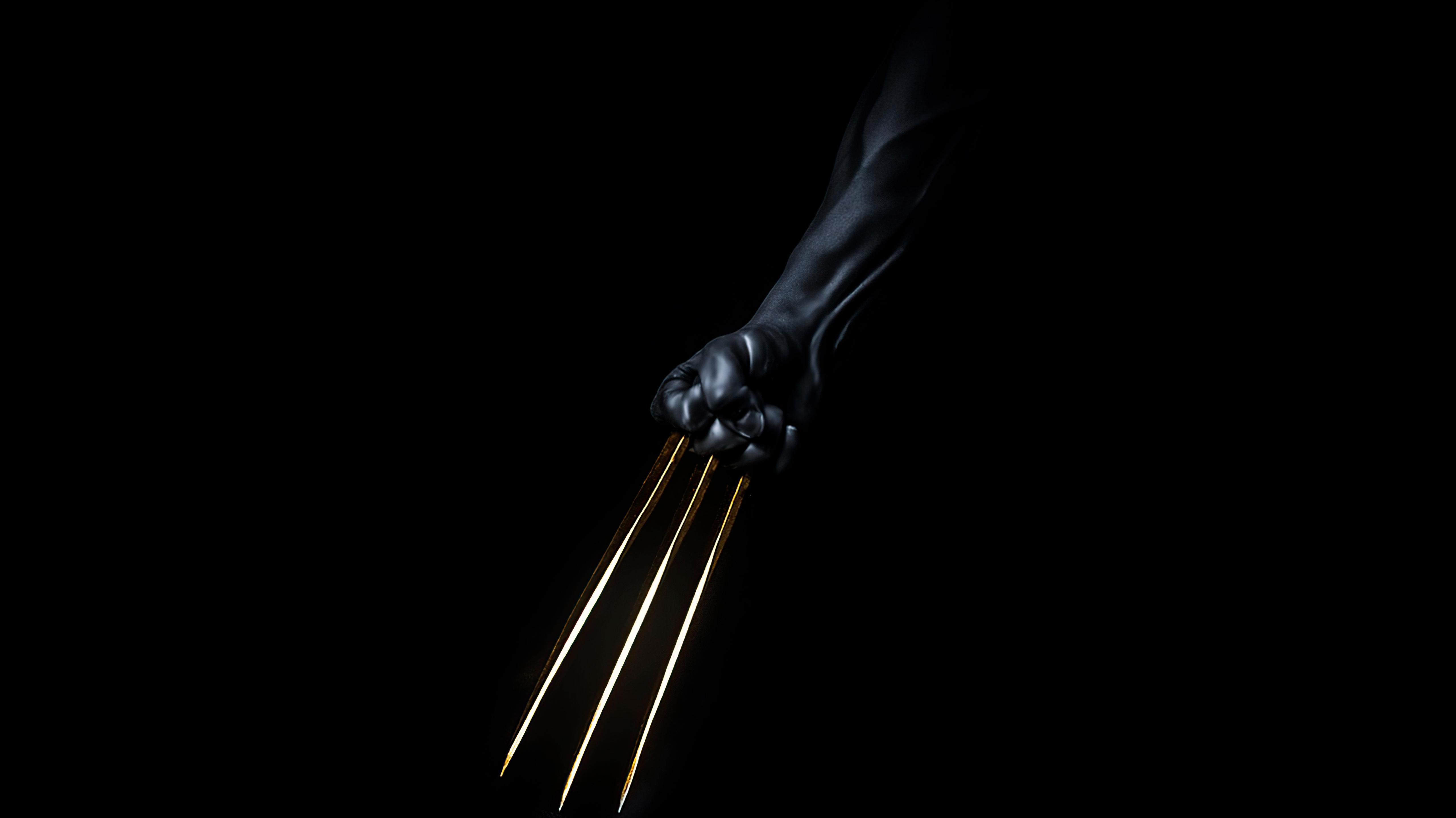 Fondos de pantalla Garras de Wolverine doradas