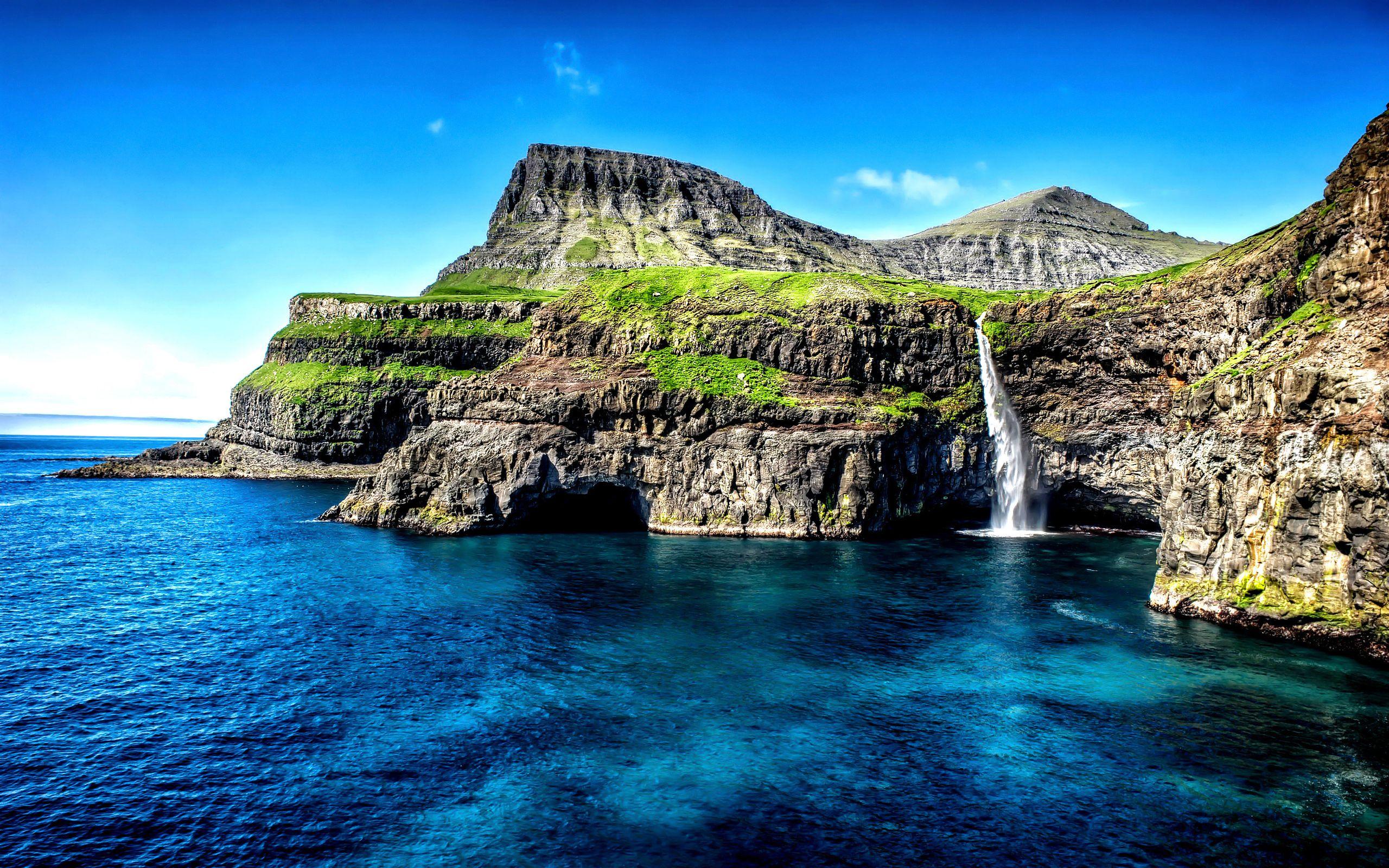 Fondos de pantalla Gásadalur, Islas Feroe