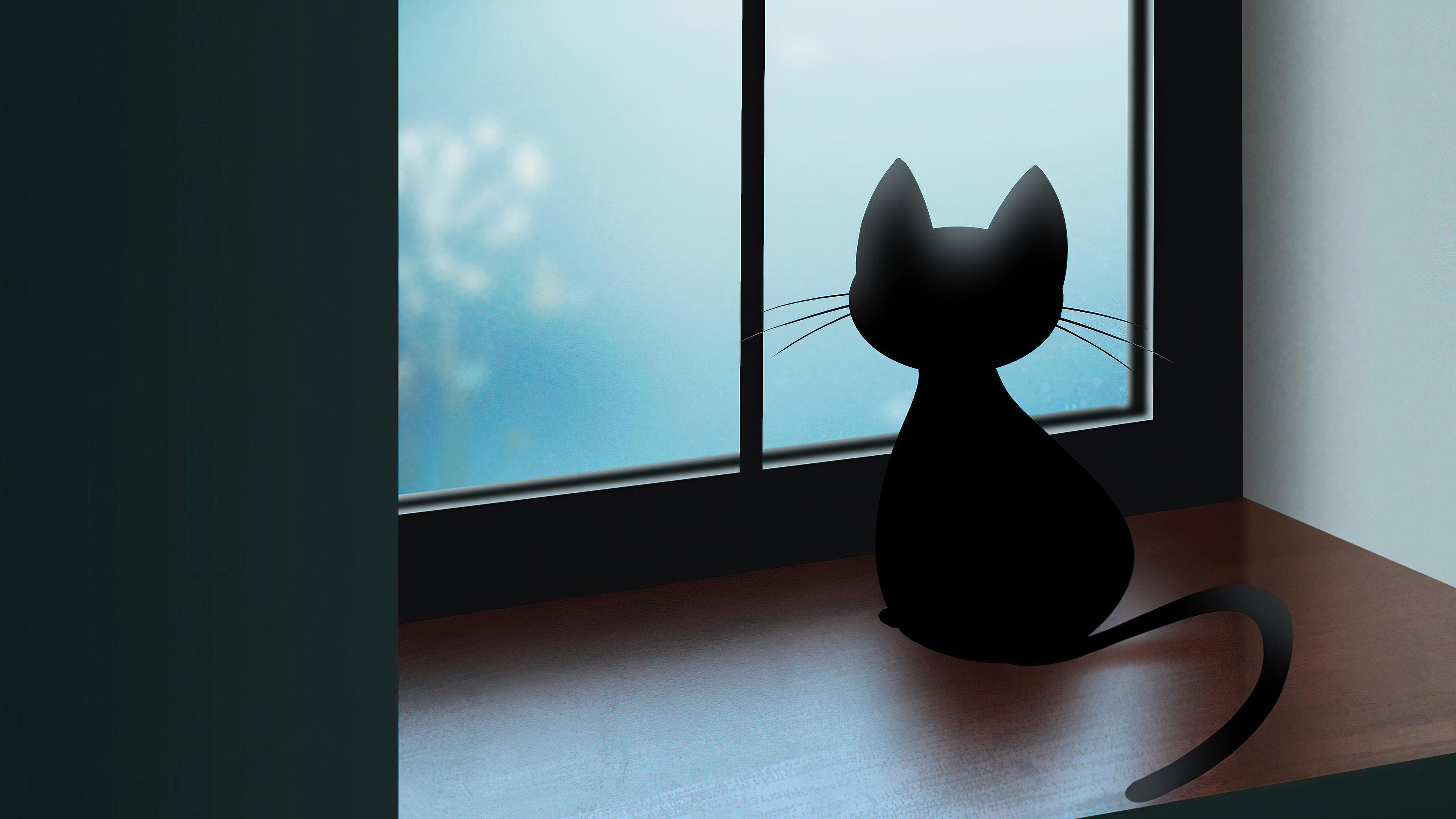 Wallpaper Cat looking out the window
