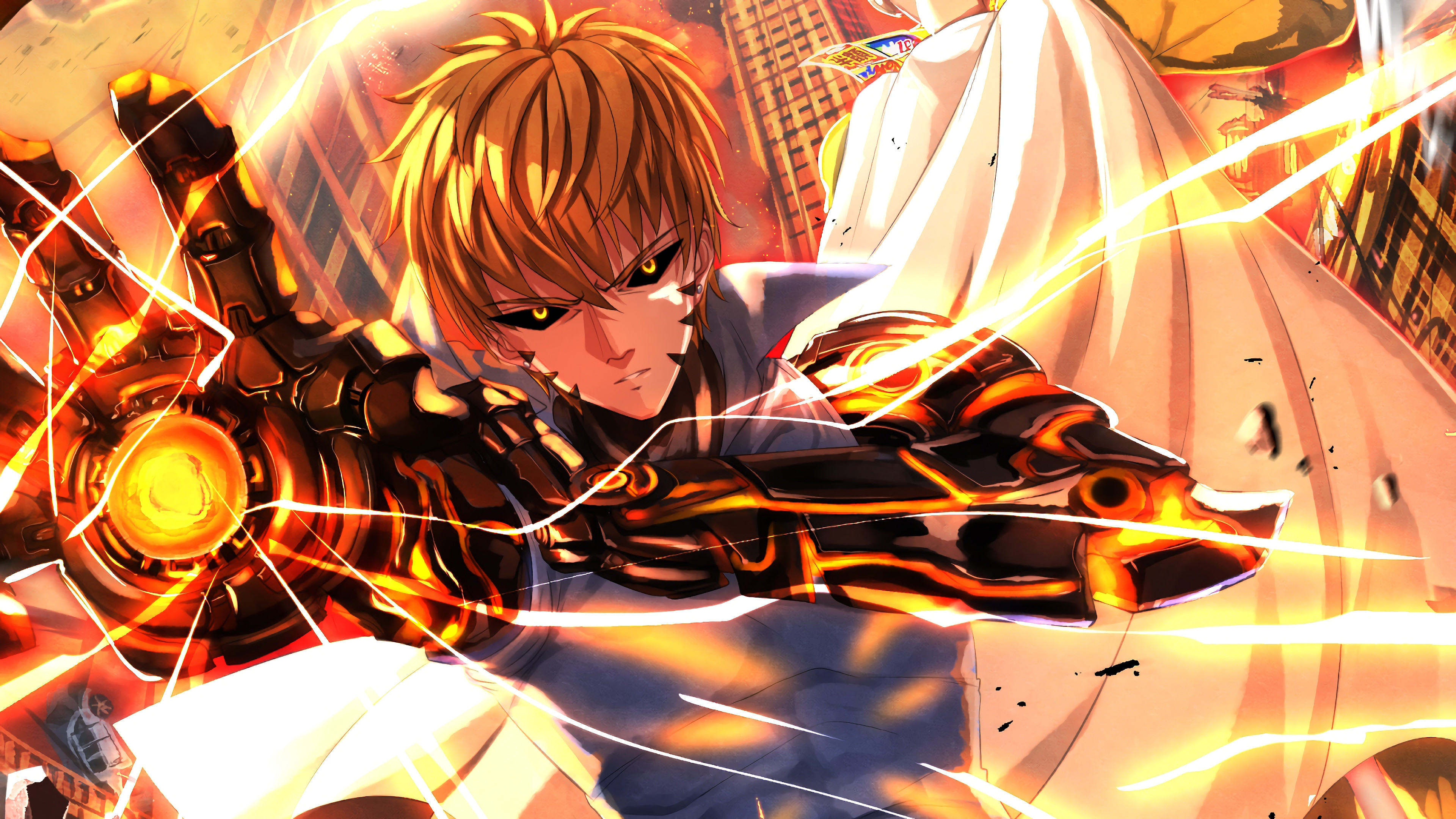 Genos One Punch Man Anime Wallpaper 4k Ultra Hd Id 3220