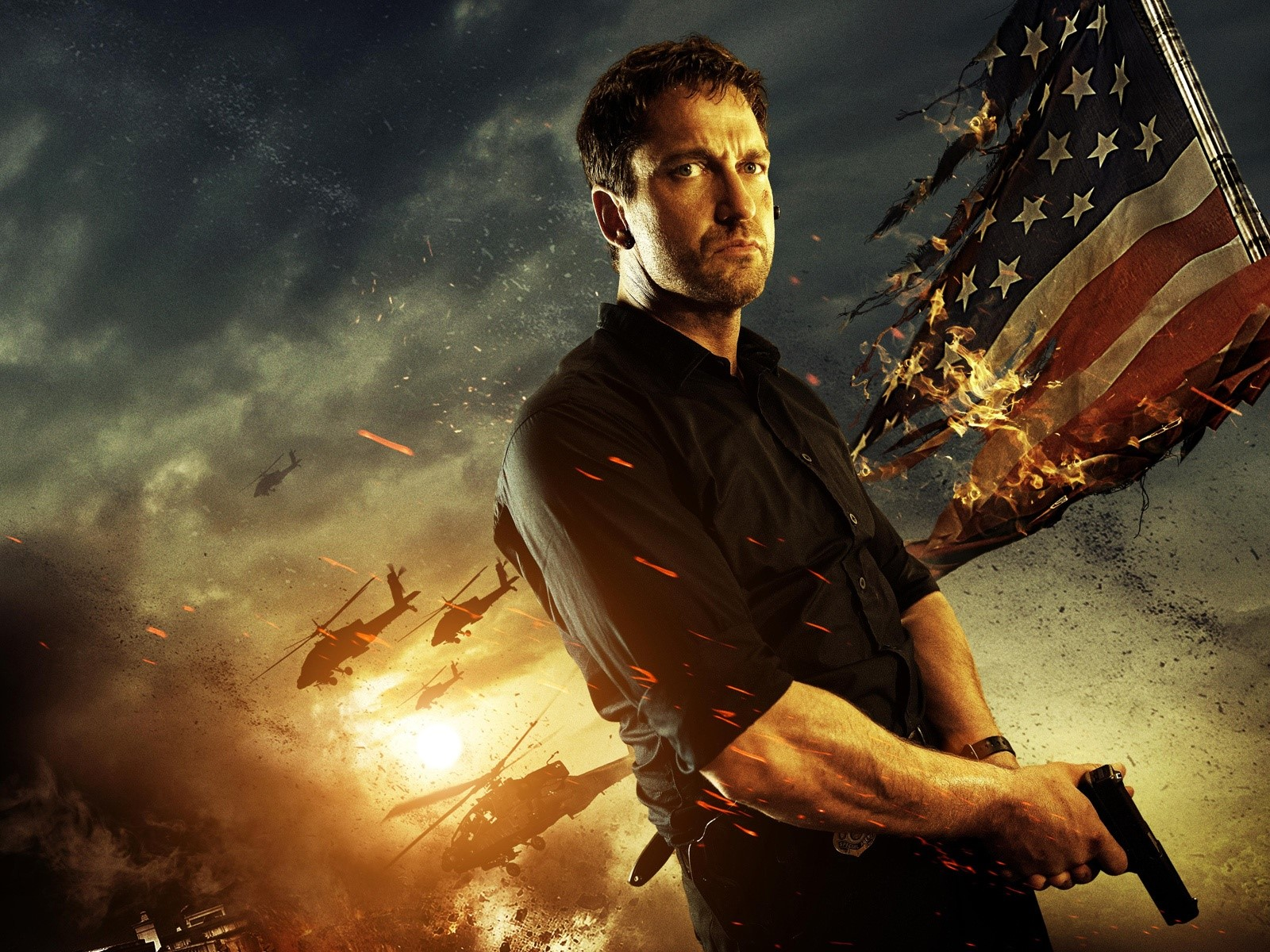 Wallpaper Gerard Butler in Attack on the White House