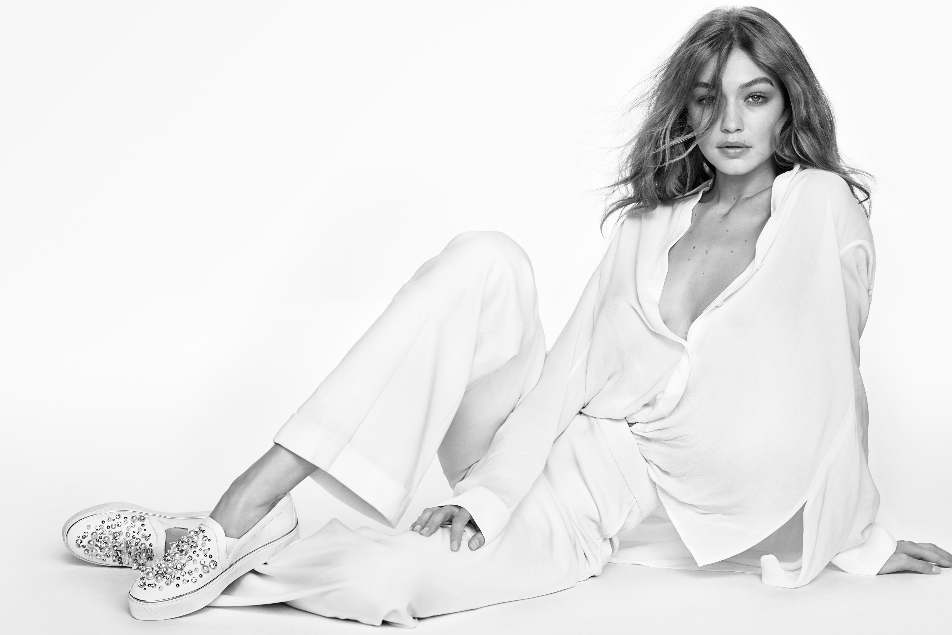 Fondos de pantalla Gigi Hadid blanco y negro