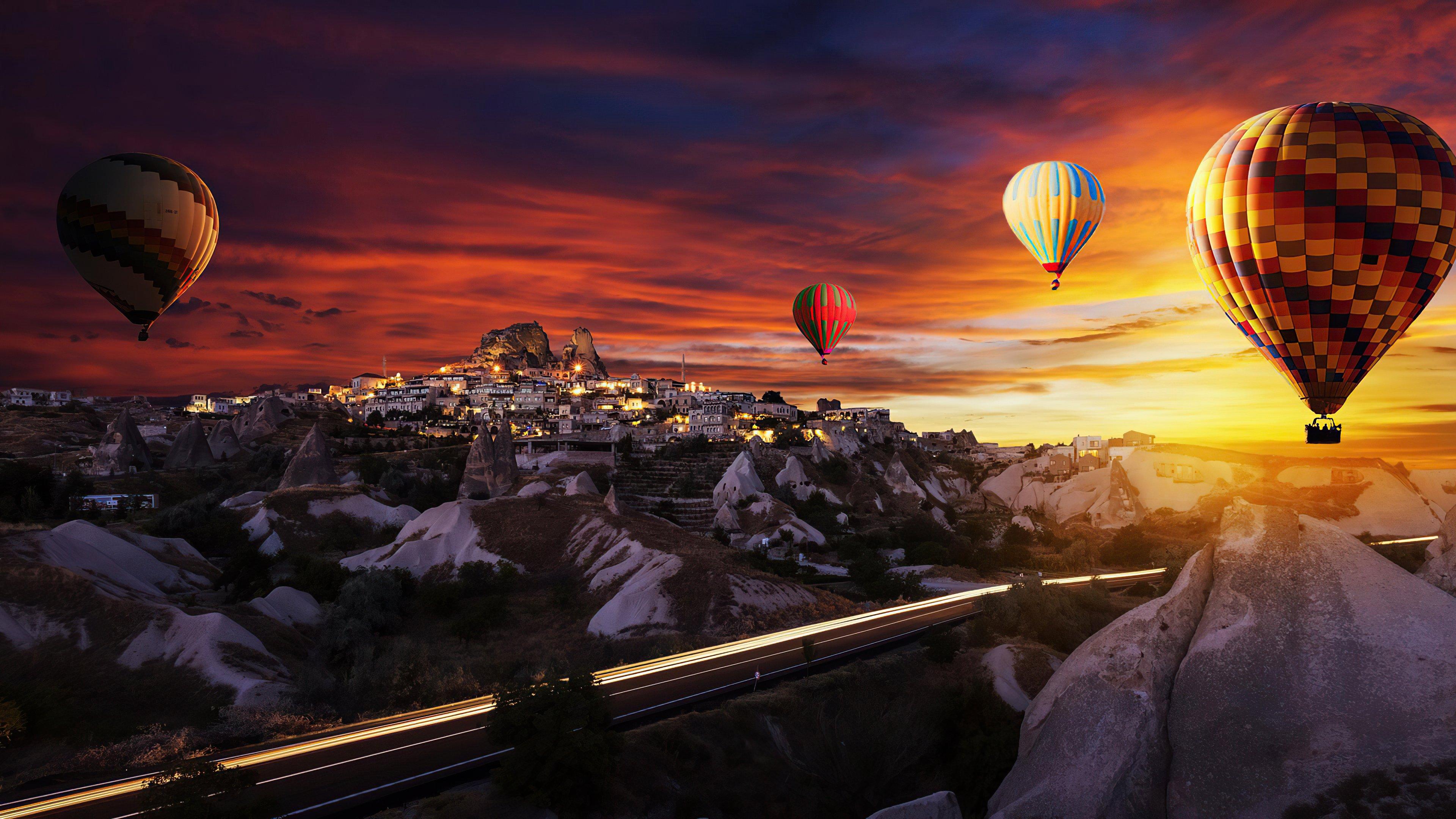 Wallpaper Hot air ballons over Goreme