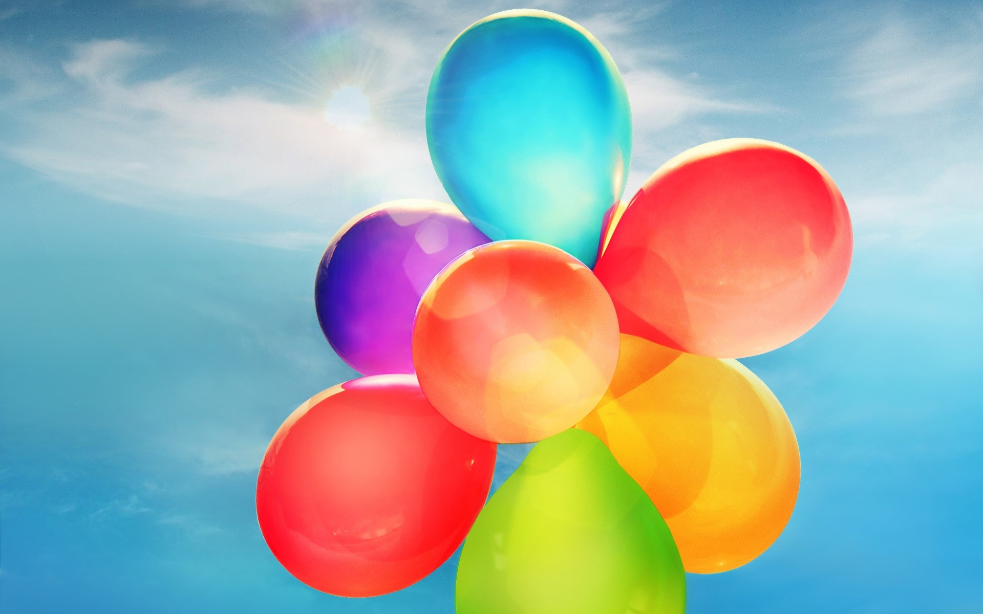 Wallpaper Colorful balloons