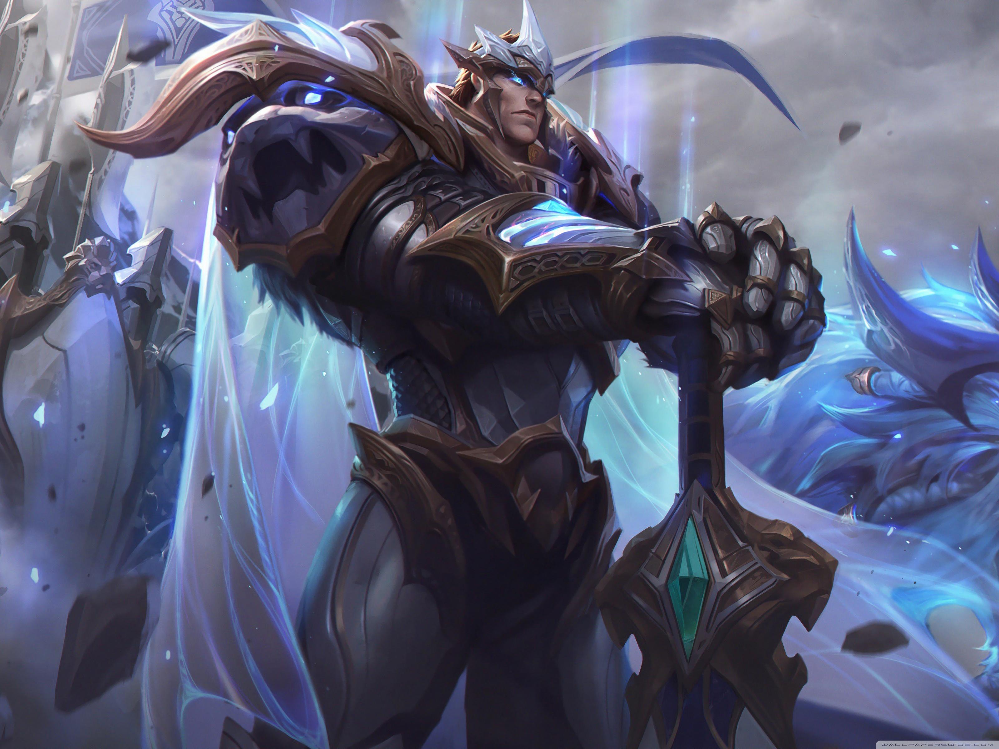 Wallpaper God King Garen from League of Legends