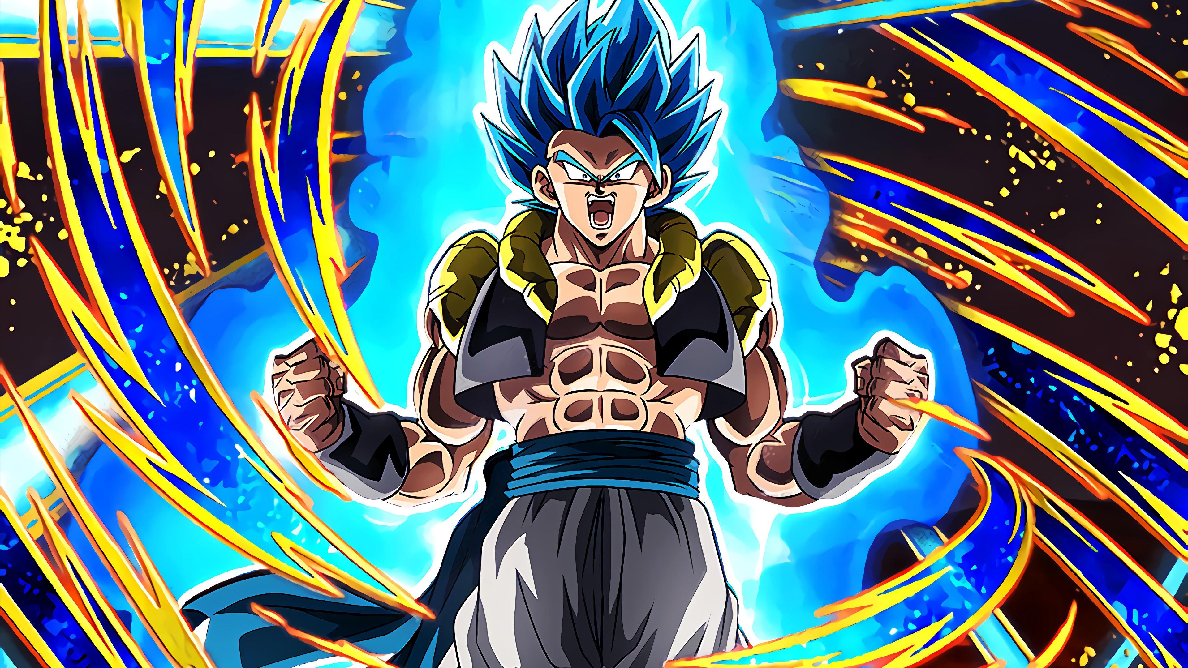 Gogeta Super Saiyan Blue Dragon Ball Super Anime Fondo De