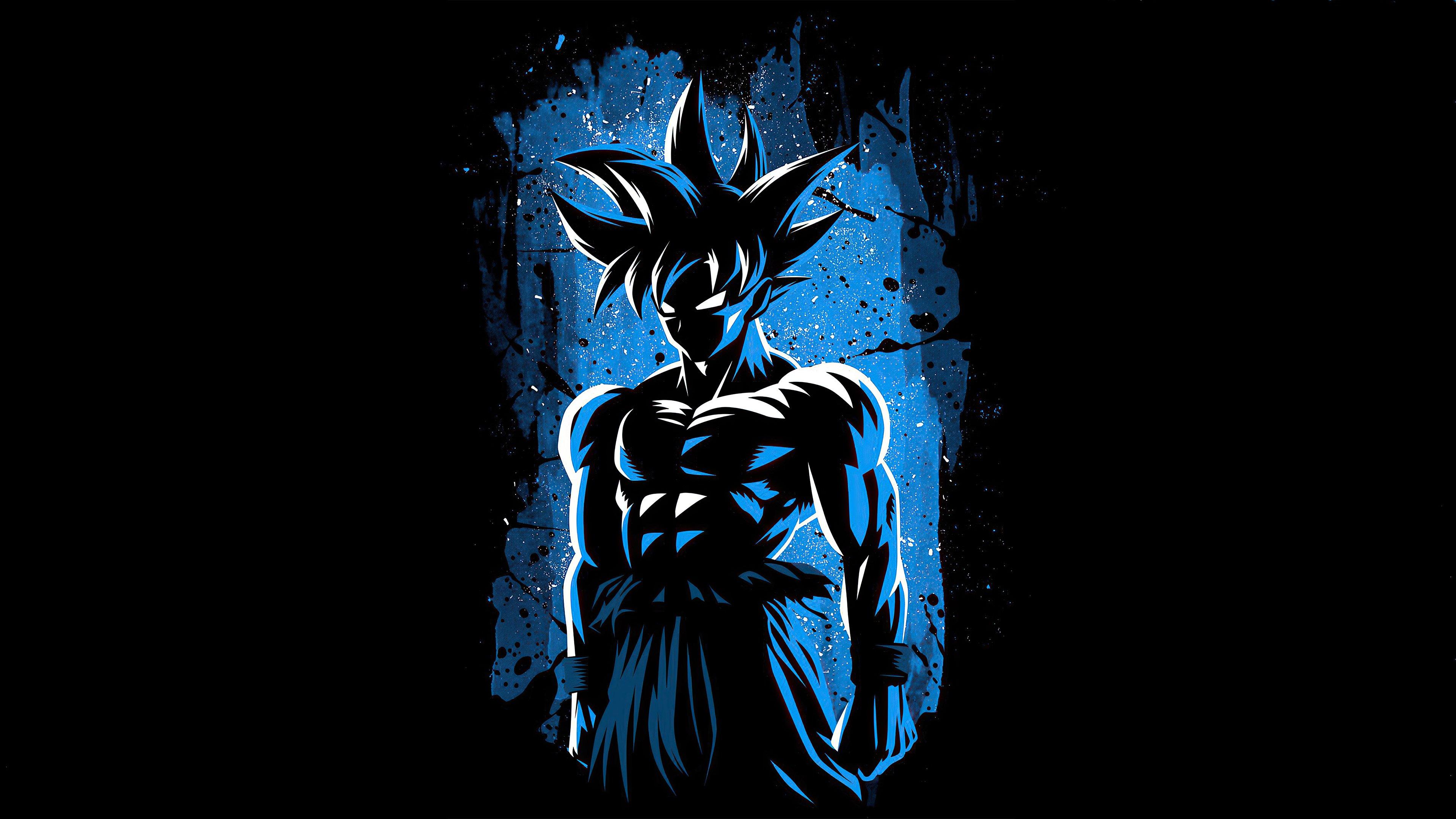 Fondos de pantalla Anime Goku diseño minimalista 2020