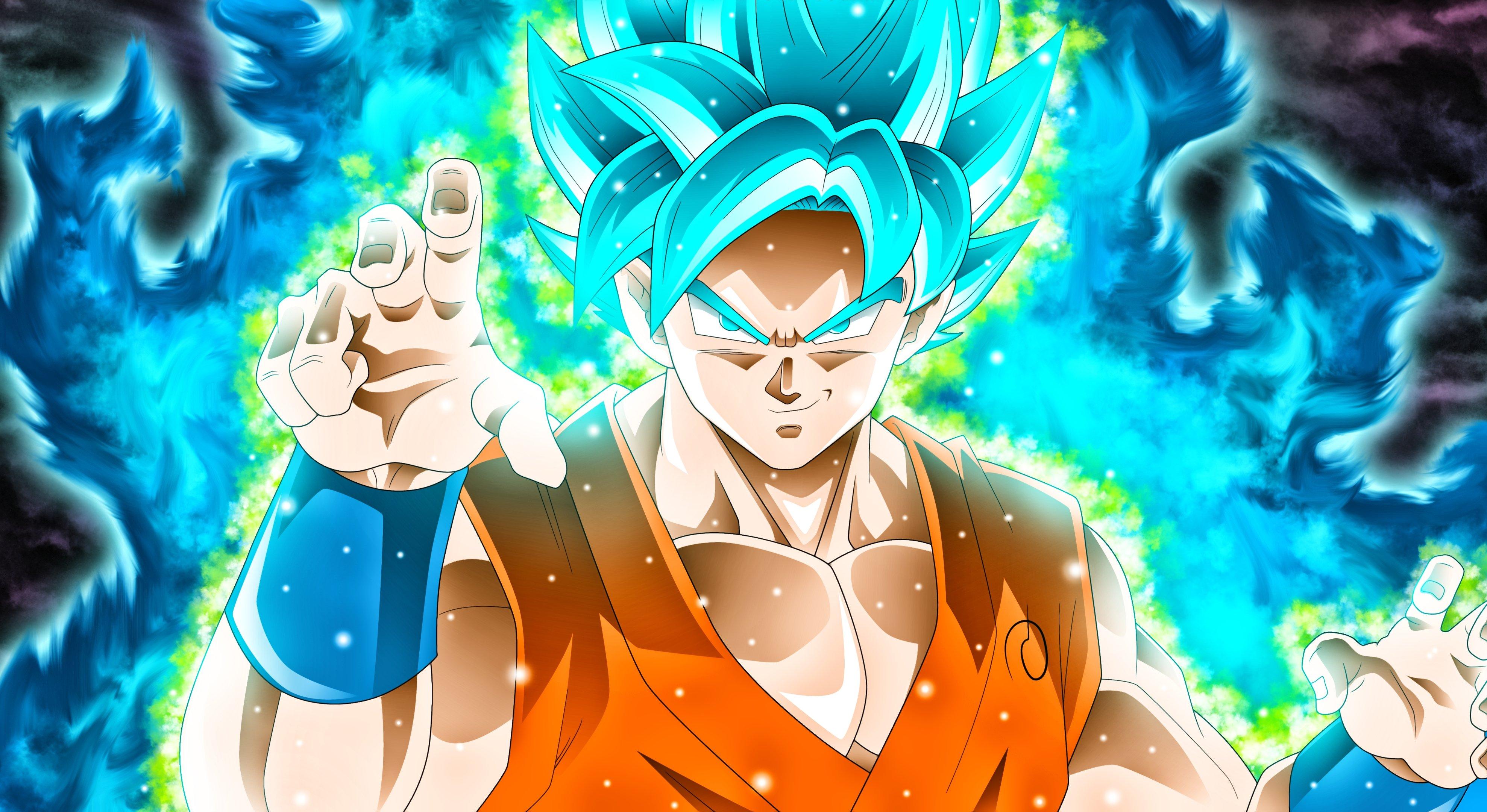 Fondos de pantalla Anime Goku Super Saiyan Blue Dragon Ball Super
