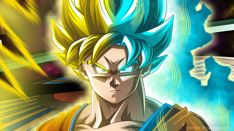 Fondos de pantalla Anime Goku Super Saiyan Dragon Ball Super