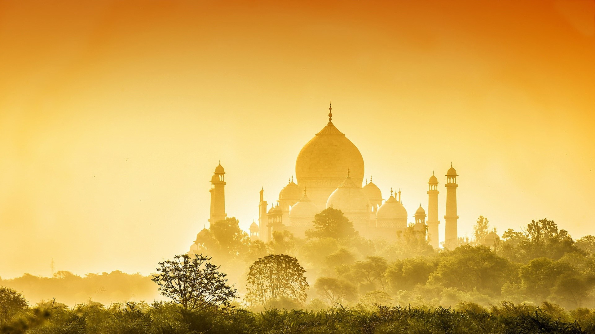 Wallpaper Golden taj mahal