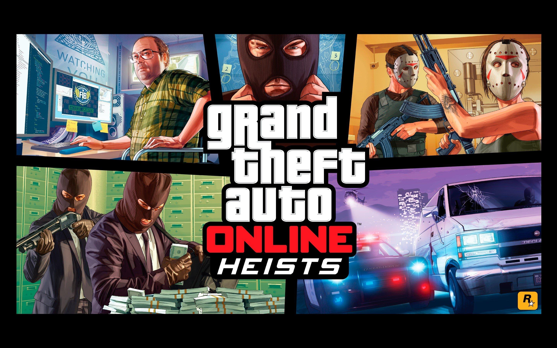 Wallpaper Grand Theft Auto Online Heists
