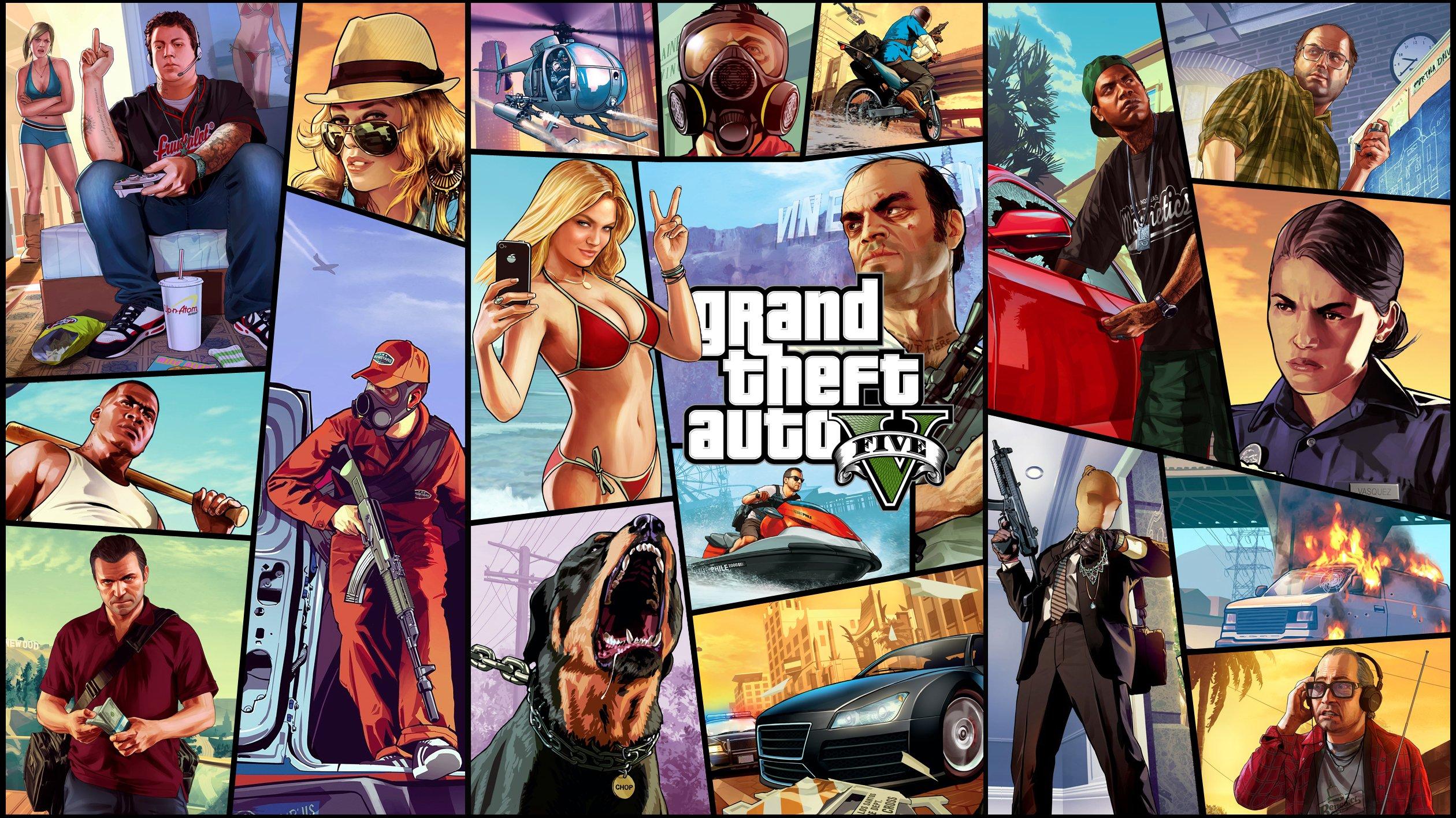 Fondos de pantalla Grand Theft Auto V (GTA 5) Poster