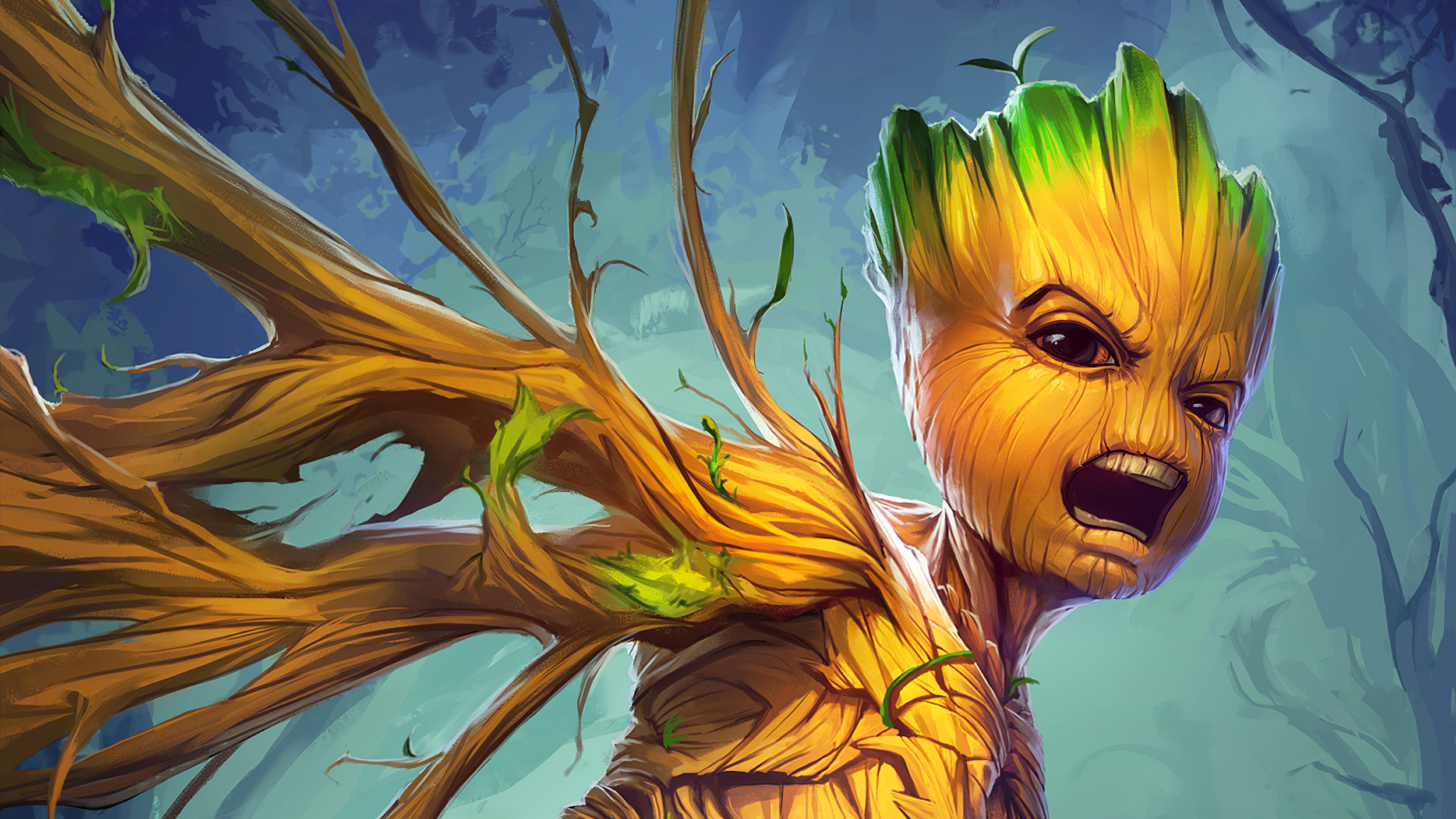 Wallpaper Groot from Guardians of the galaxy