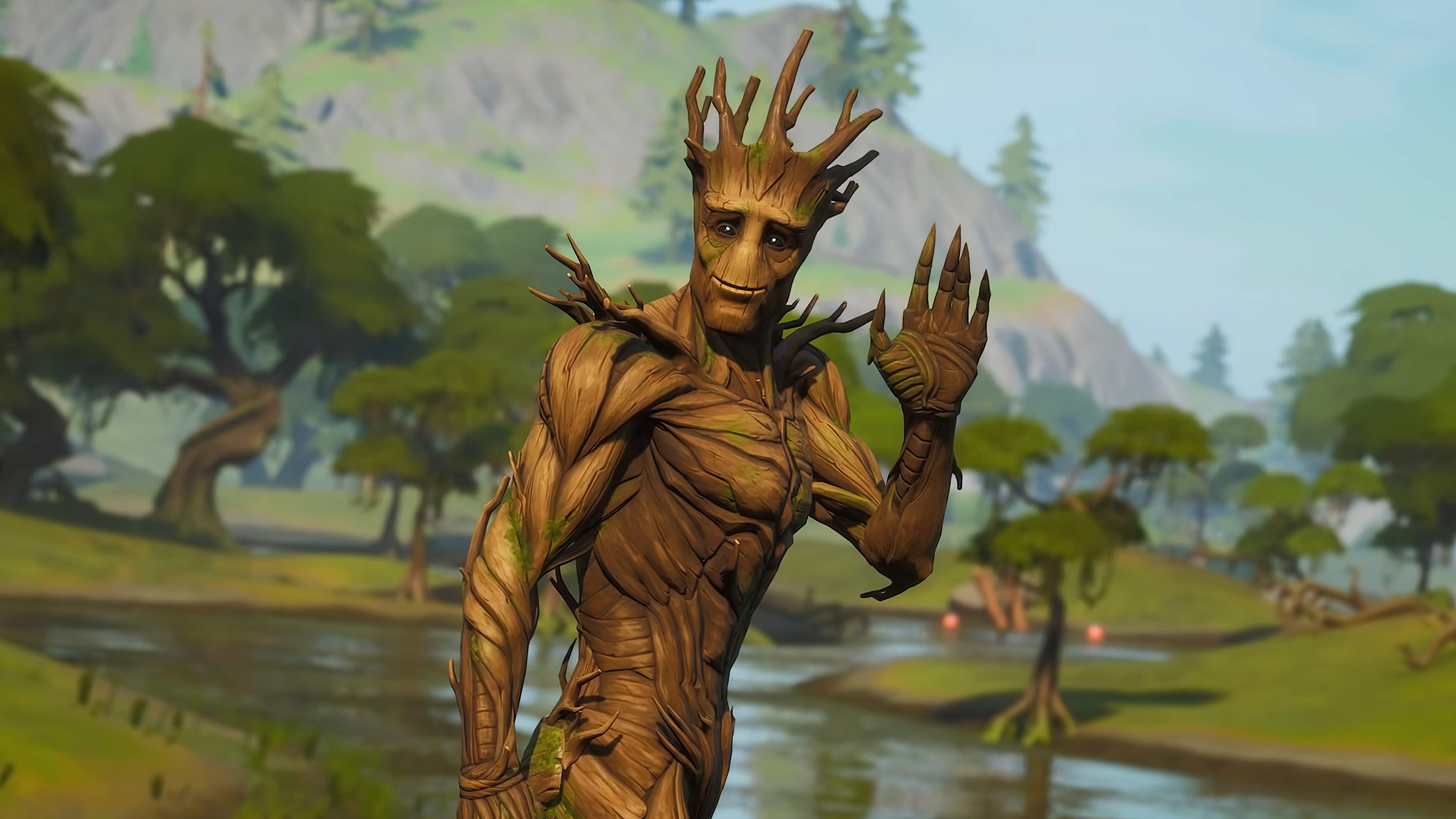 Fondos de pantalla Groot Fortnite