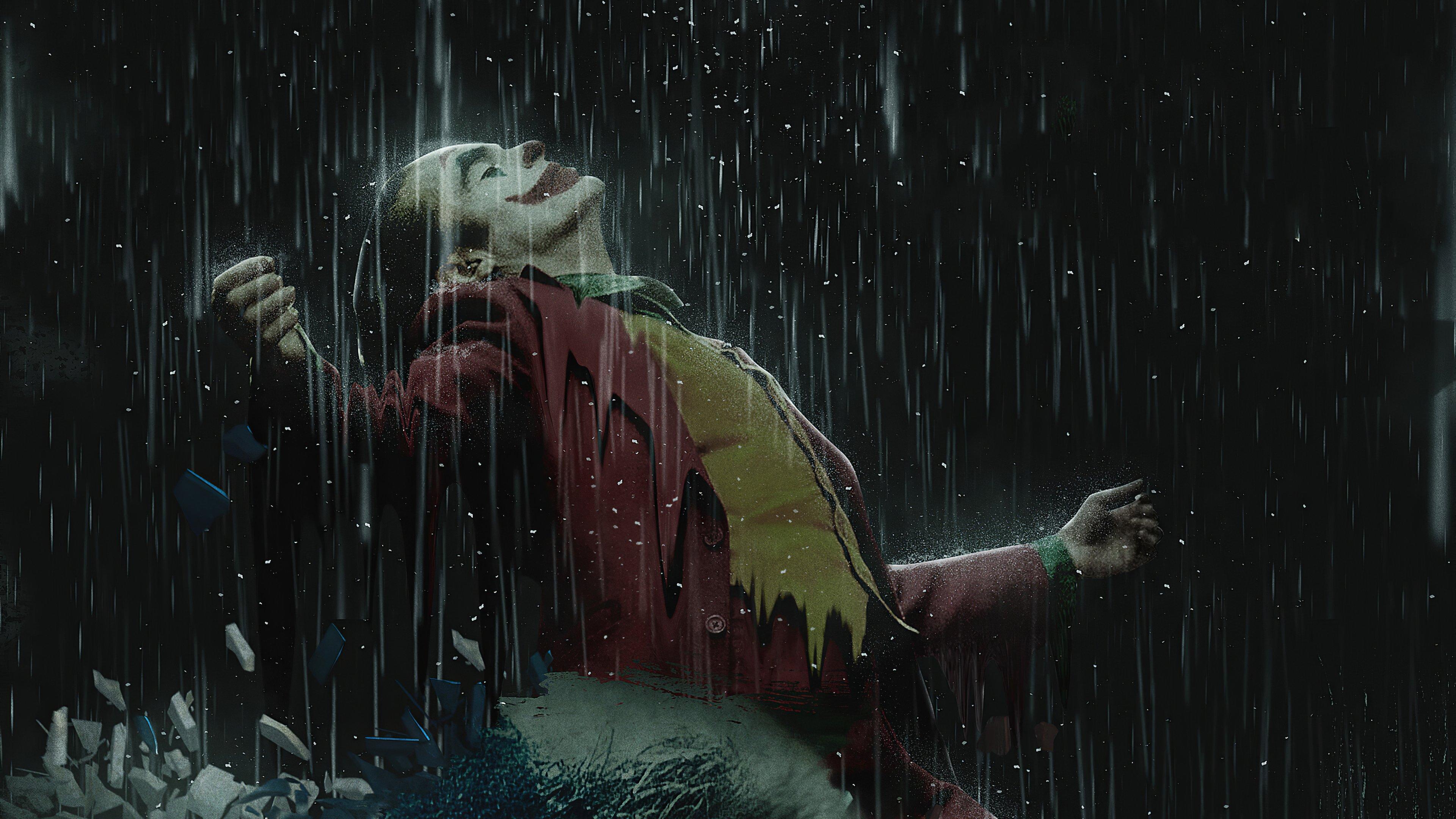 Fondos de pantalla Guason bajo la lluvia