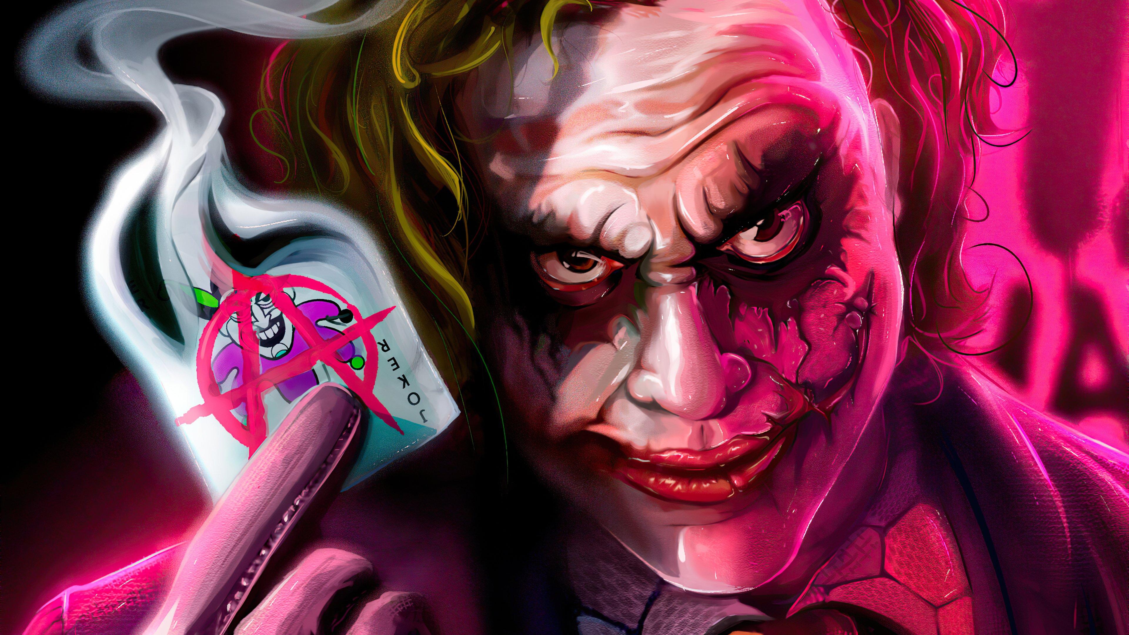 Wallpaper Joker with anarchist card