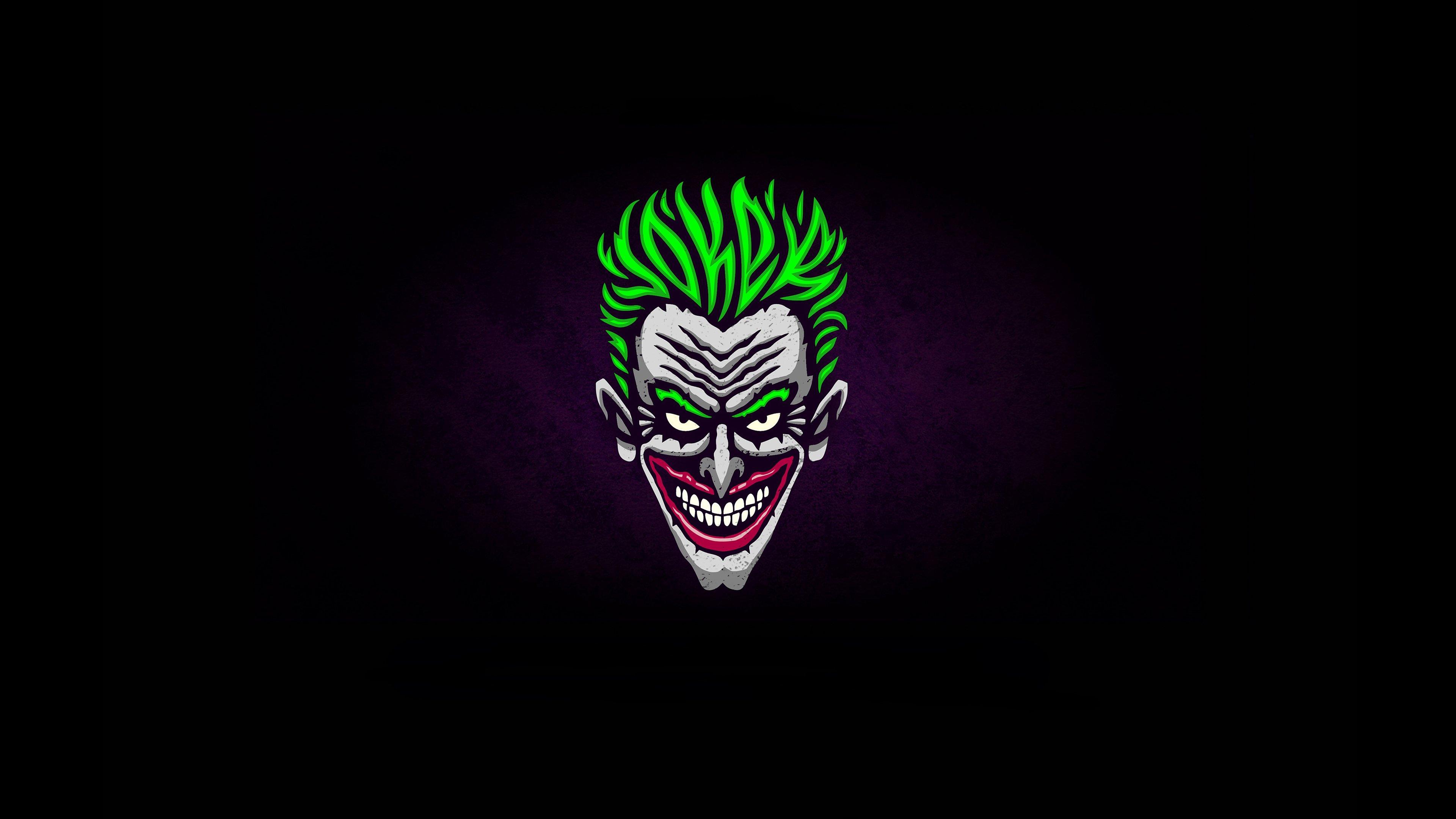 Joker Illustration Minimalist Wallpaper 4k Ultra Hd Id3811