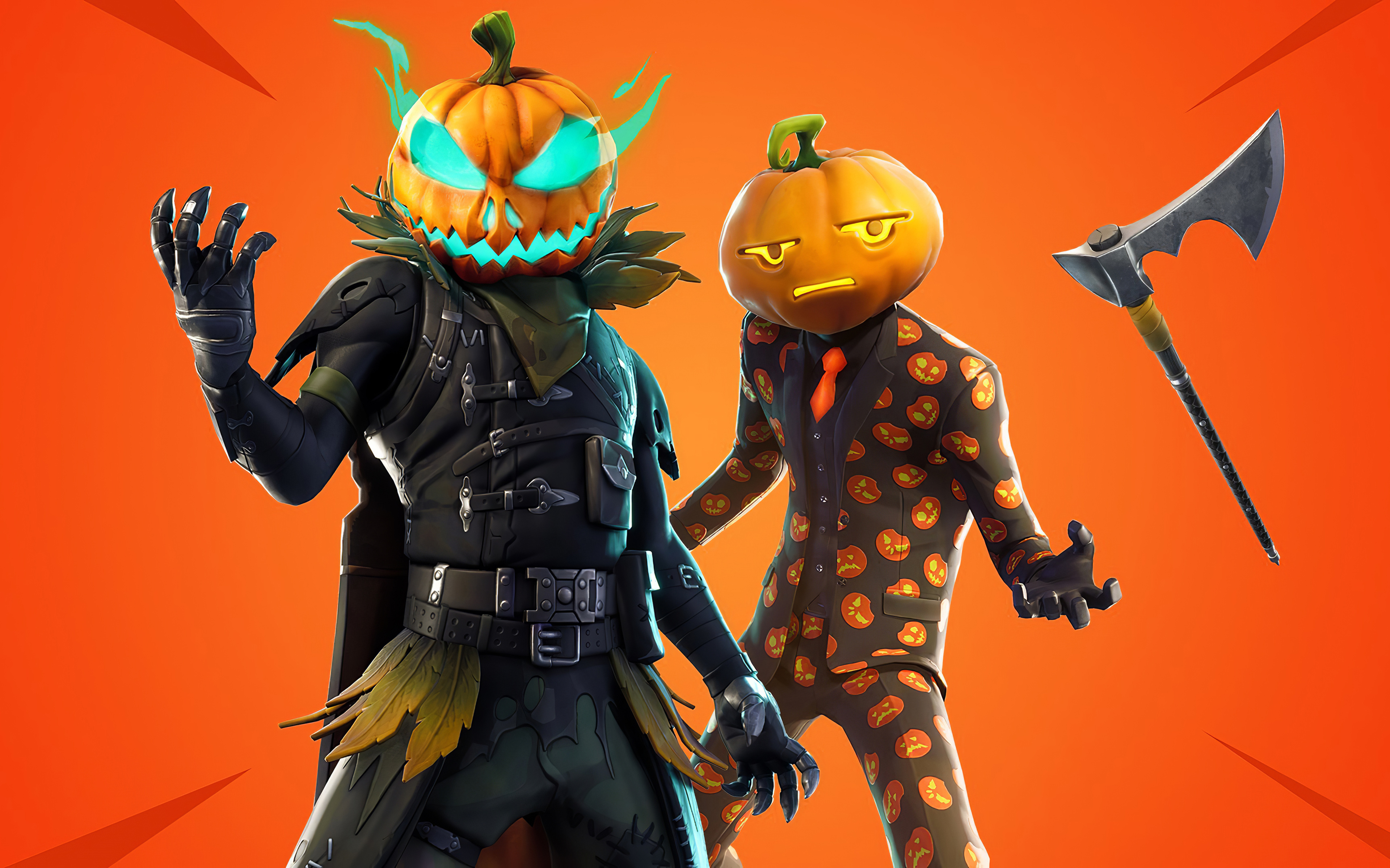 Wallpaper Halloweenhead and Jack Gourdon Fortnite
