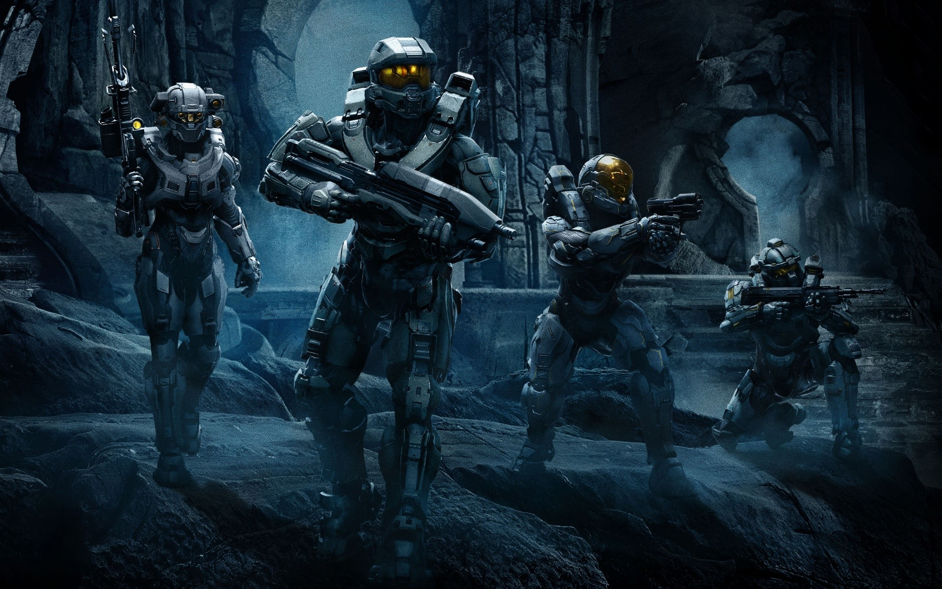Wallpaper Halo 5 Guardians Team Chief