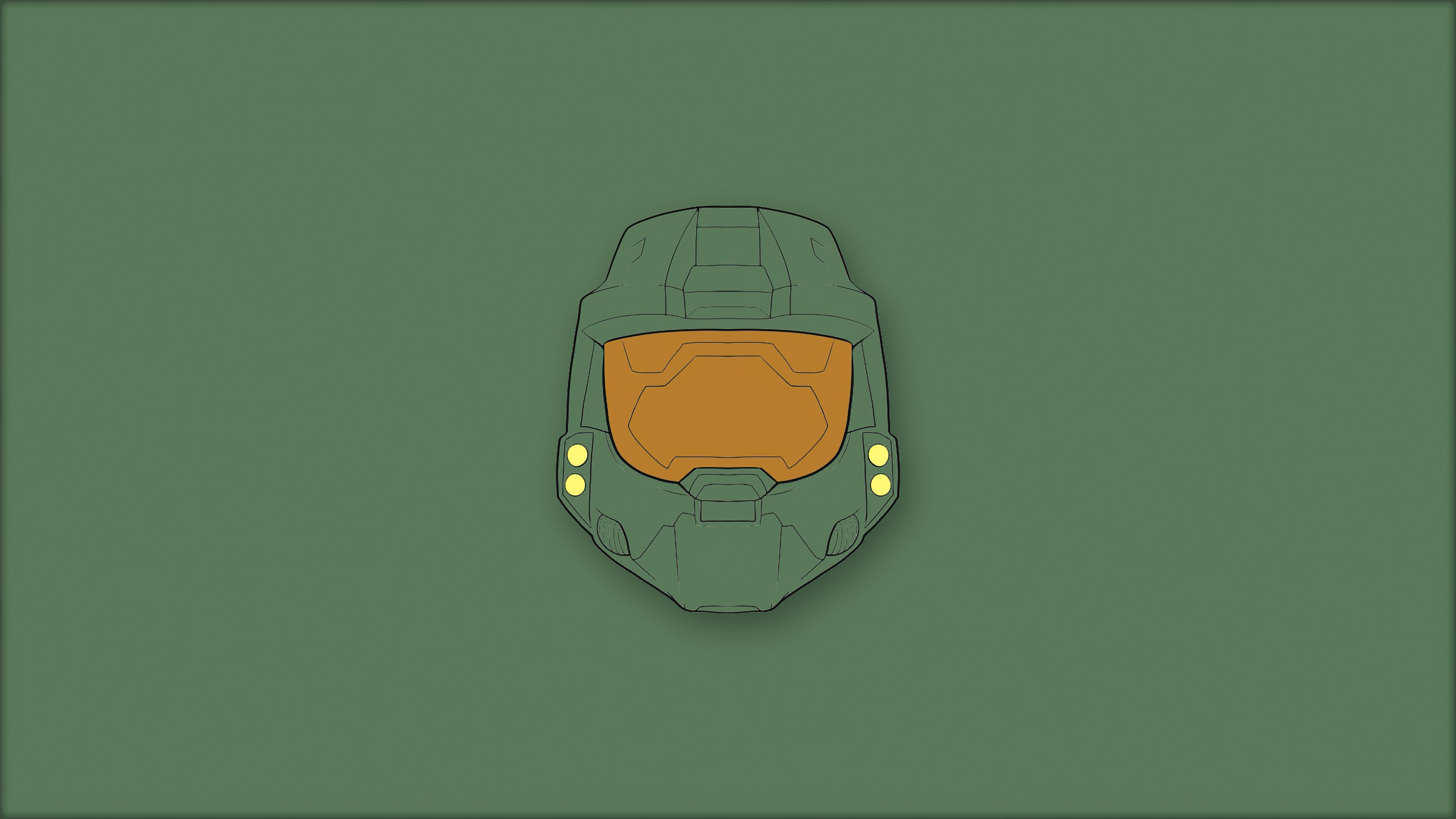 Wallpaper Halo Master Chief Minimalist