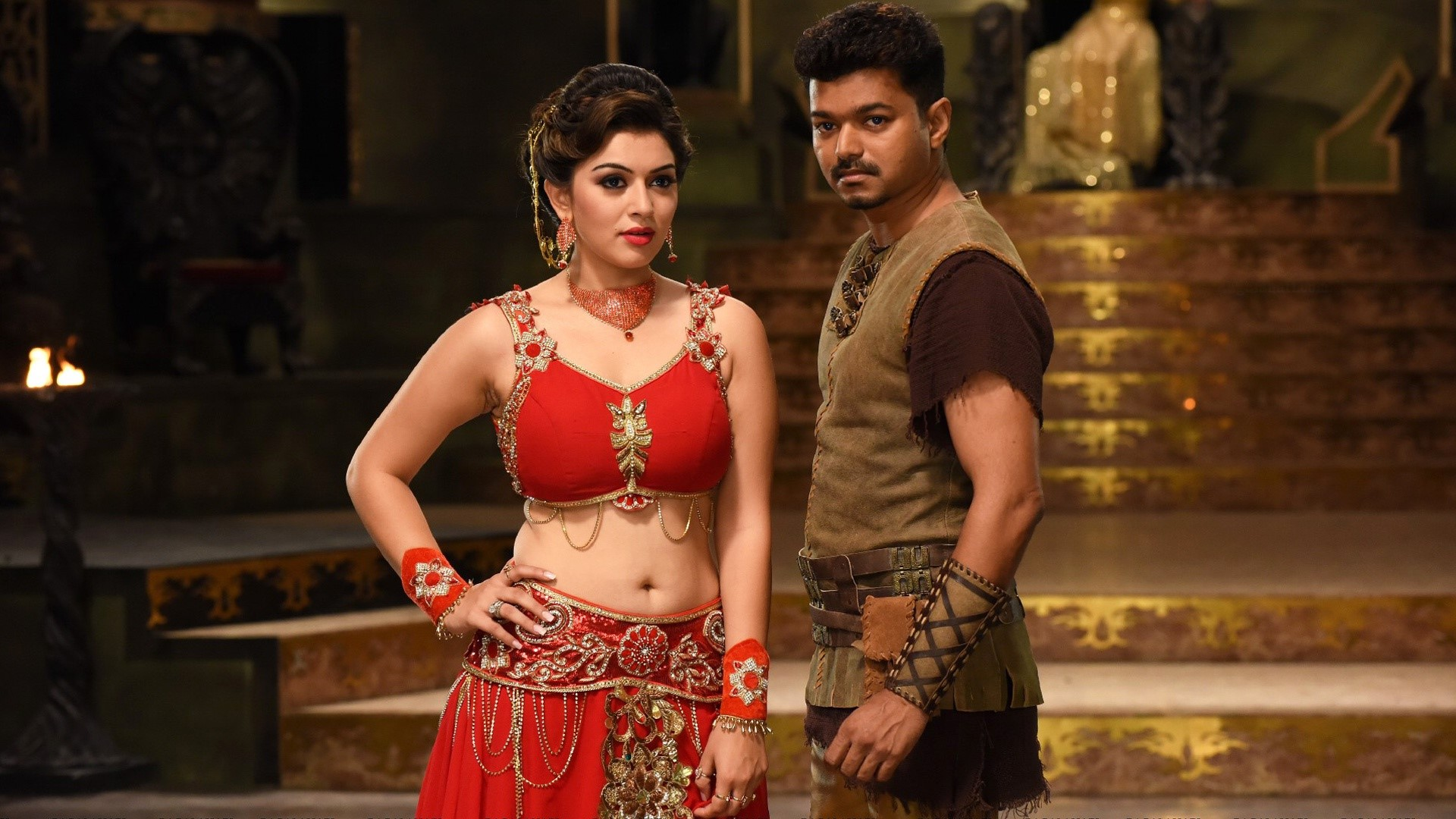 Wallpaper Hansika Vijay in Puli