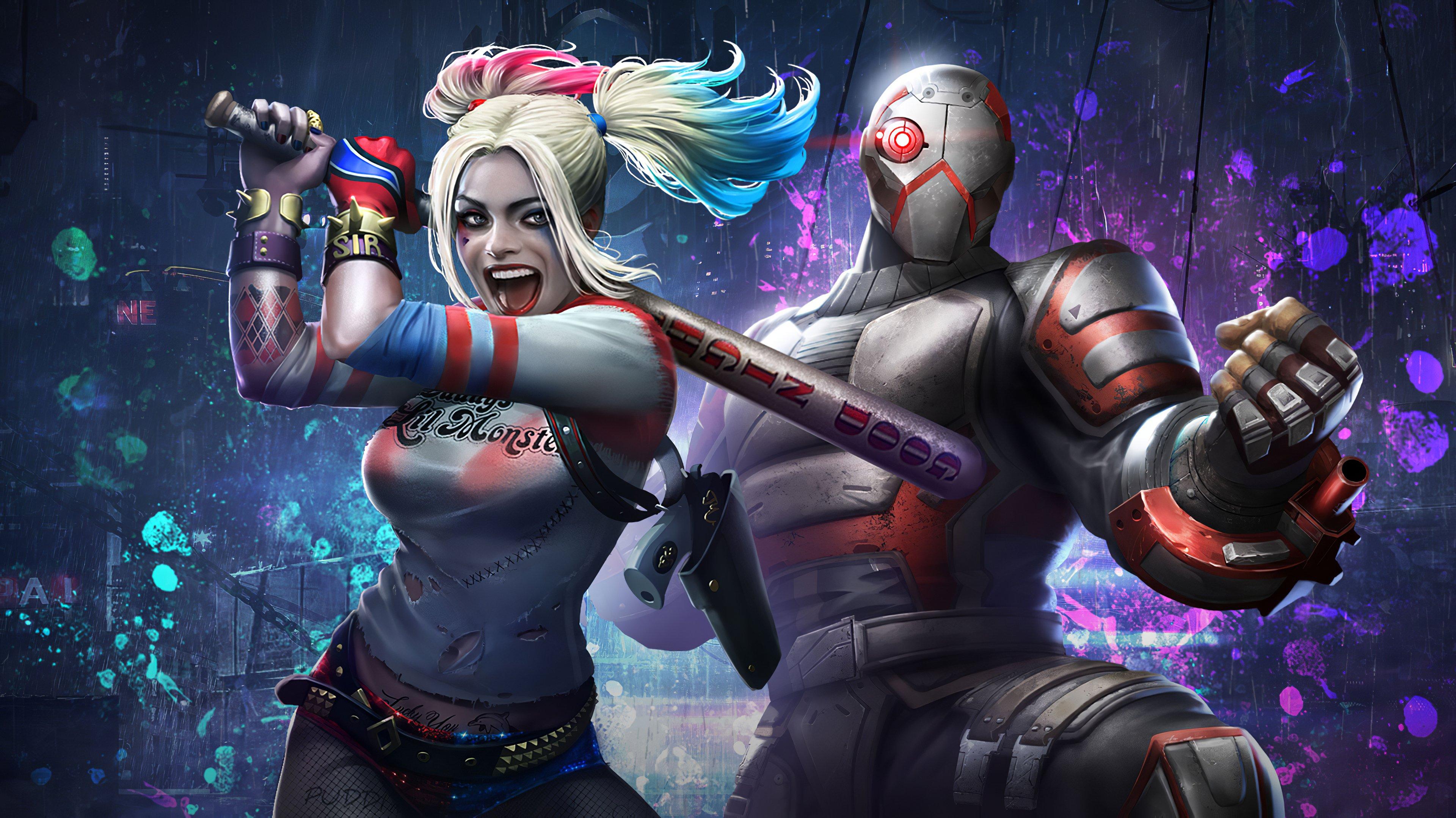 Fondos de pantalla Harley Quinn y Deadshot Injustice 2